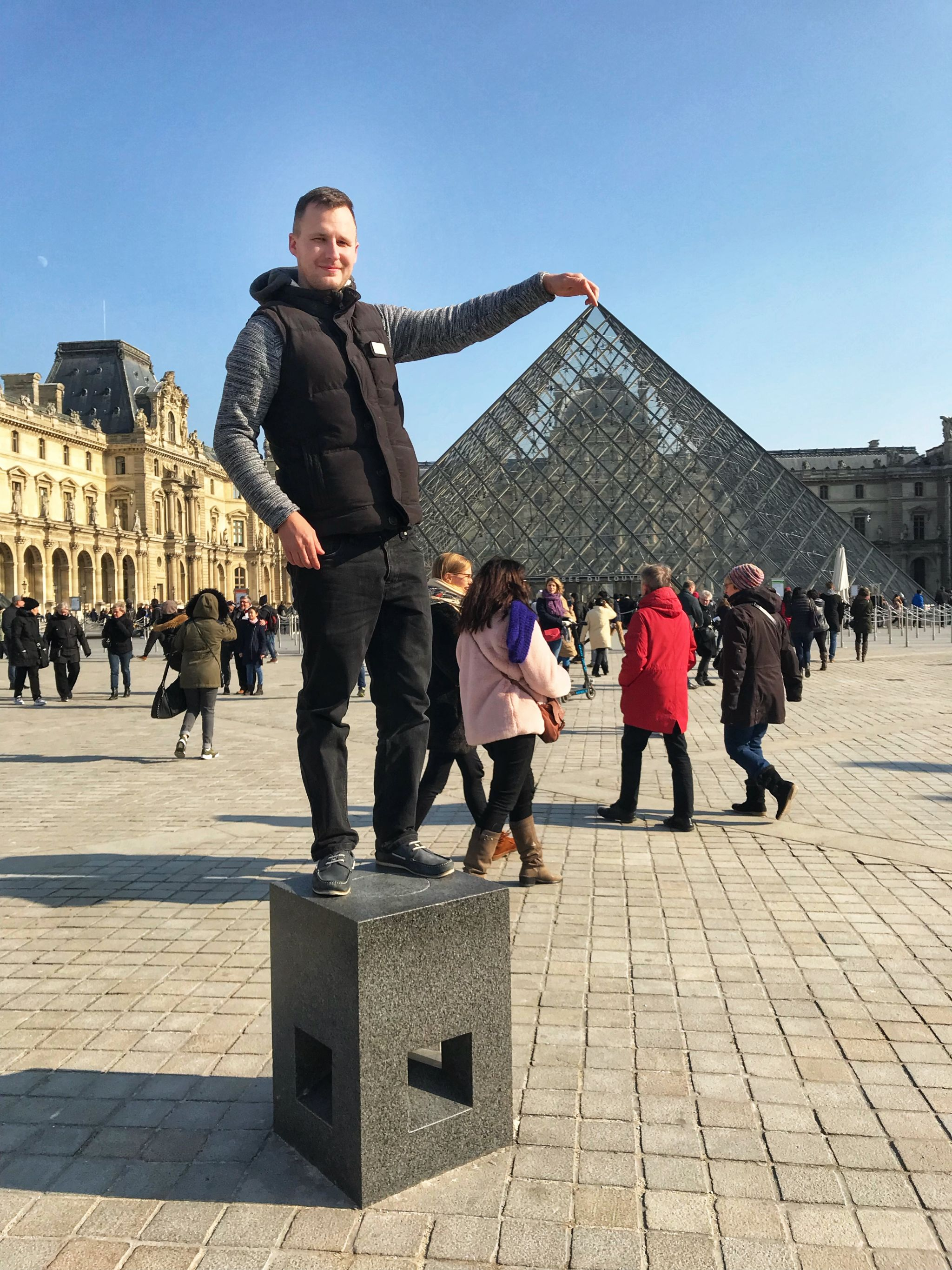 Adam at The Louvre