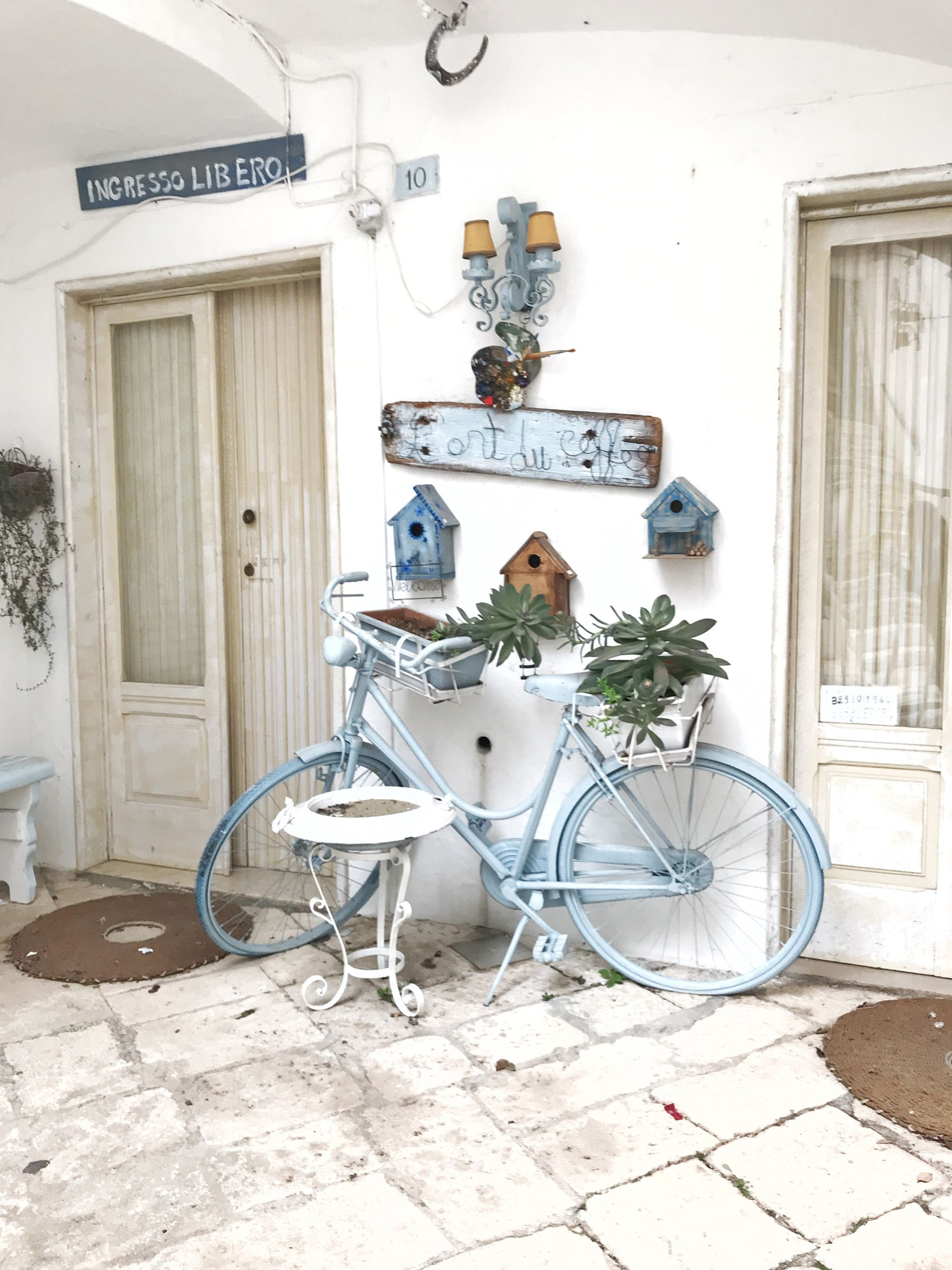 Beautiful bike decor in Locorotondo