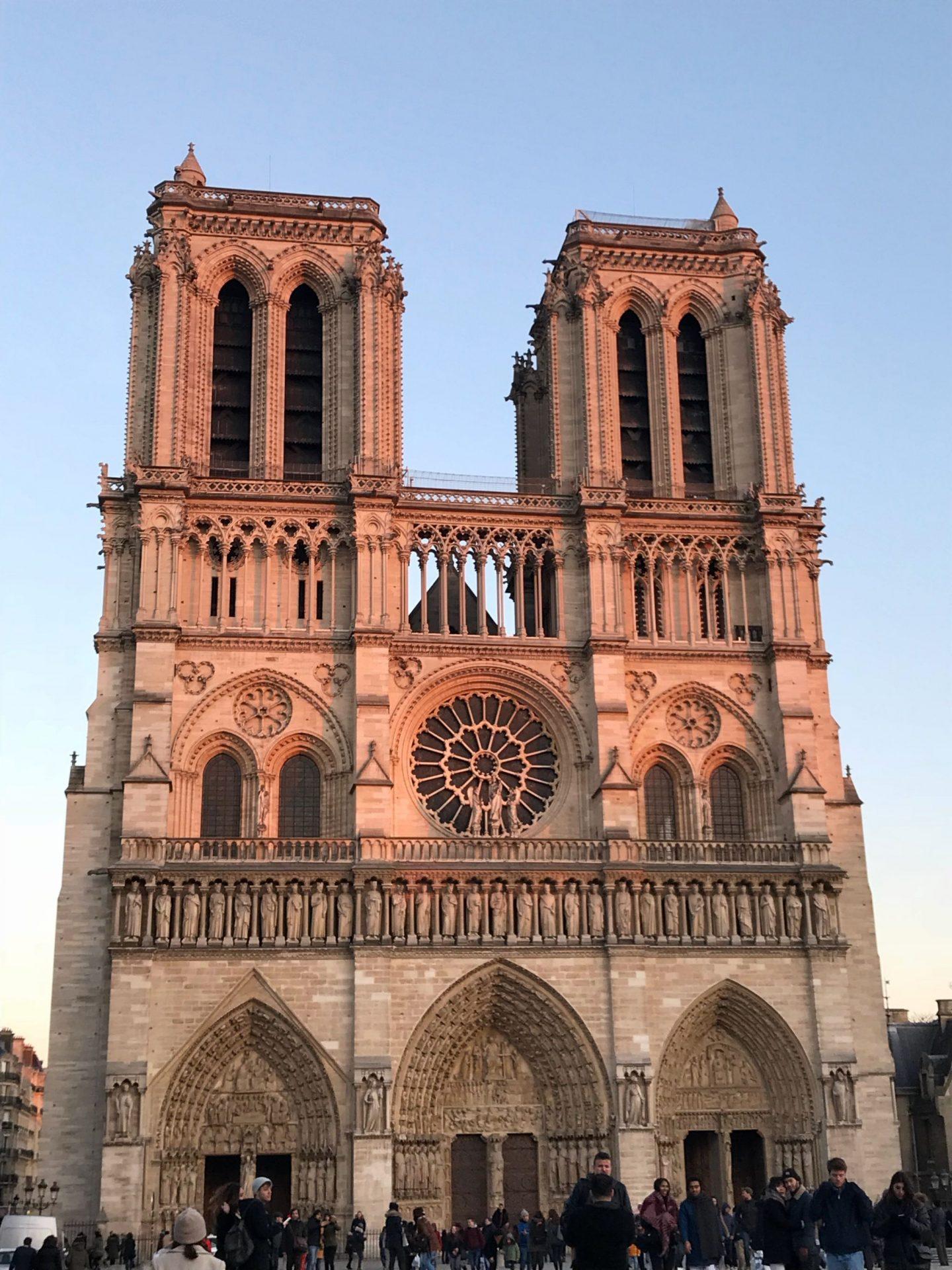 Notre Dame Paris at Sunset