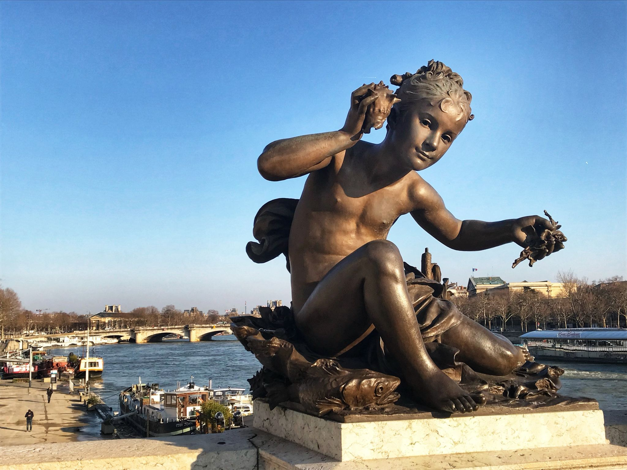 Paris Bridge Statue