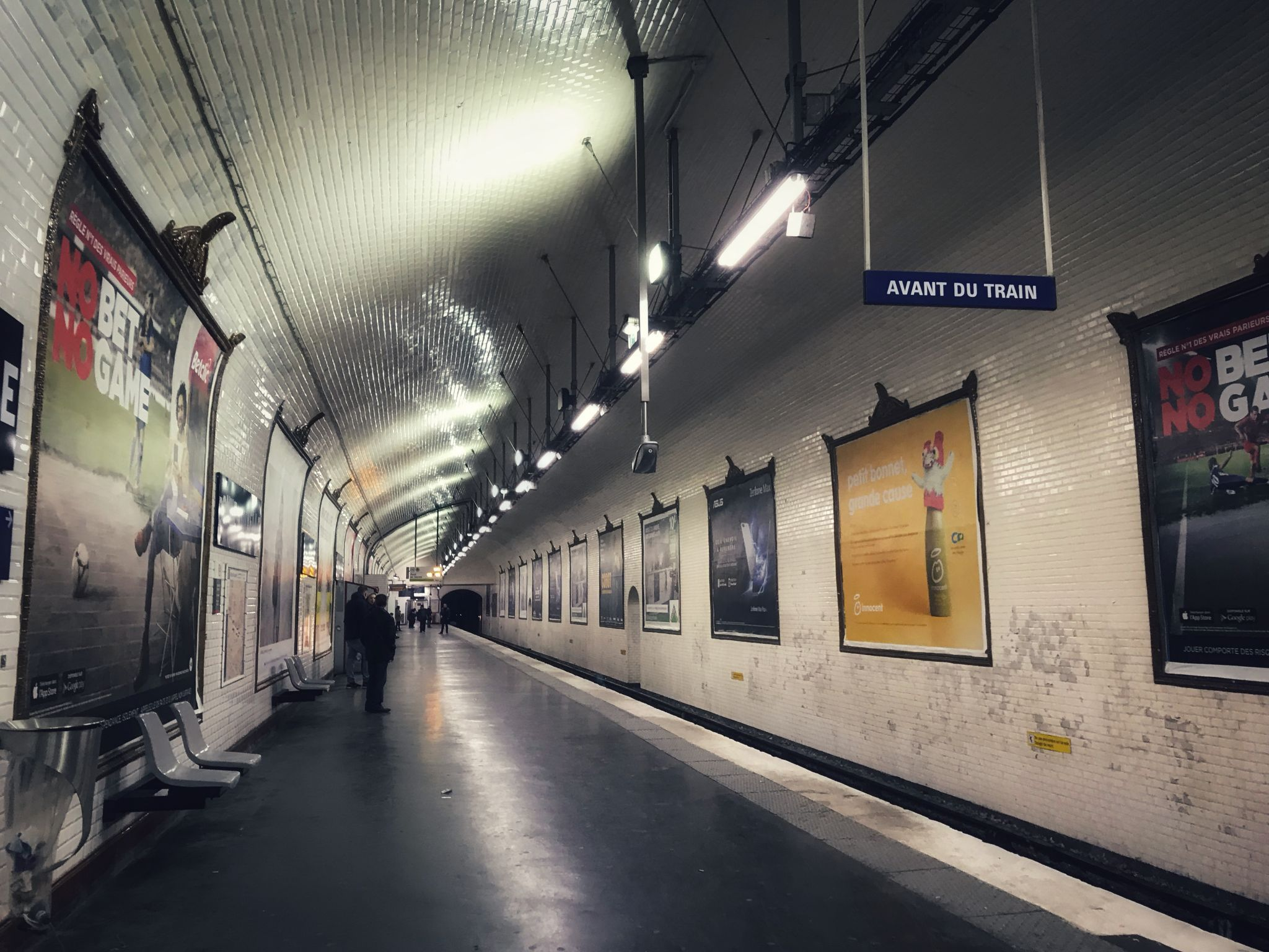 Paris metro station Platform