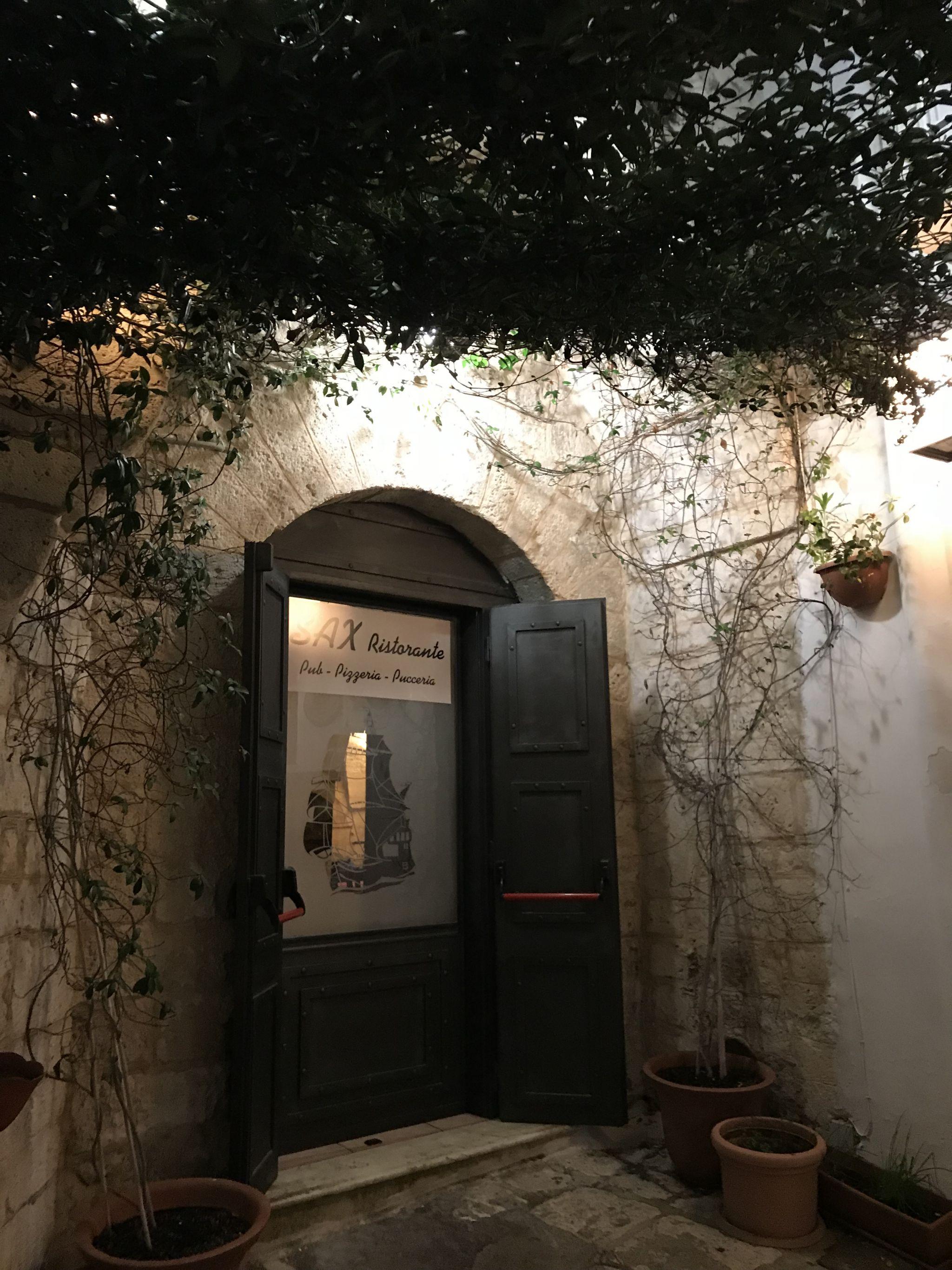 Sax Restorante in Ostuni Puglia
