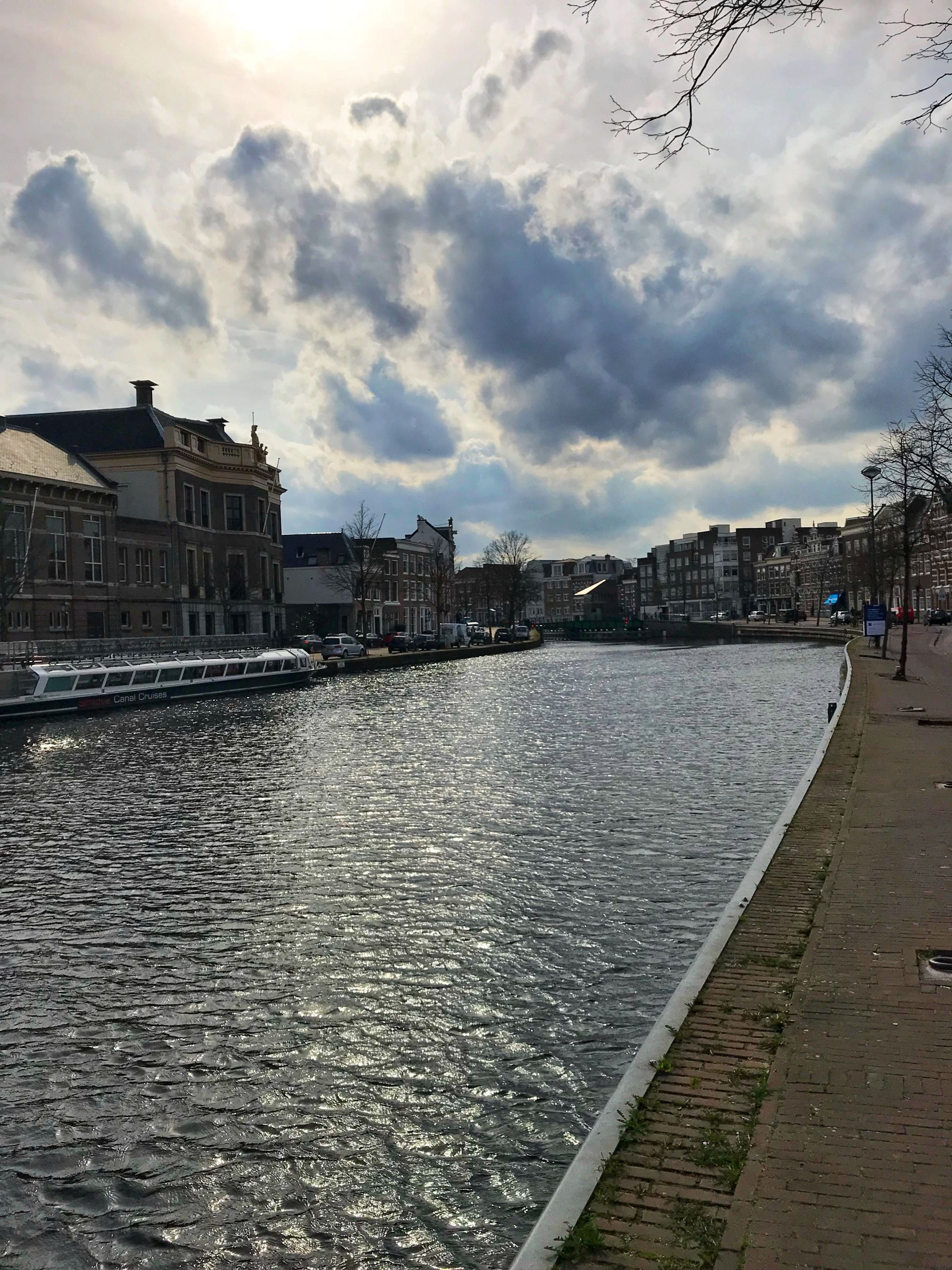 Scenic canal views Haarlem