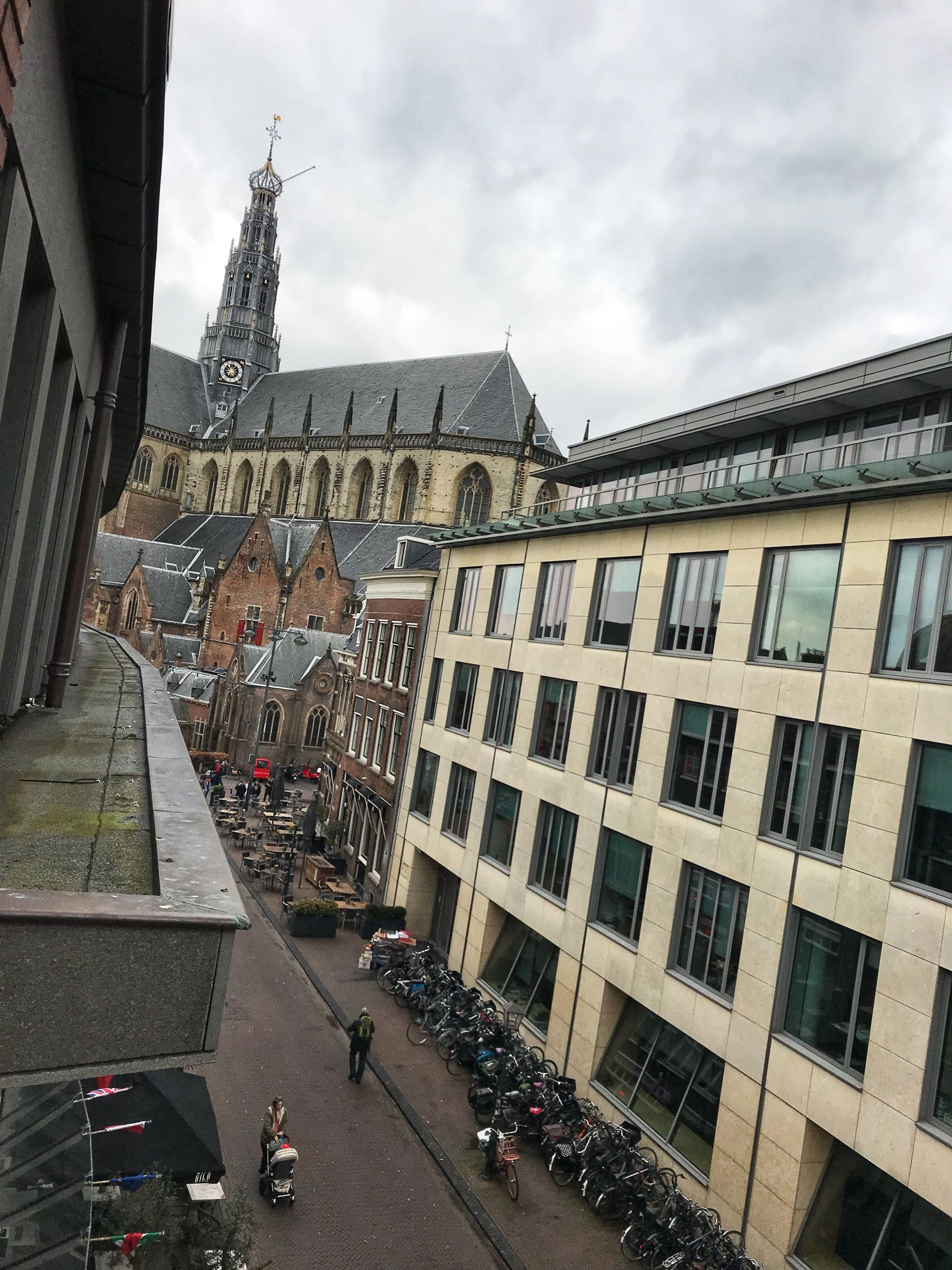 View of Grote Kerk from our room Amrath Grand Hotel Frans Hals