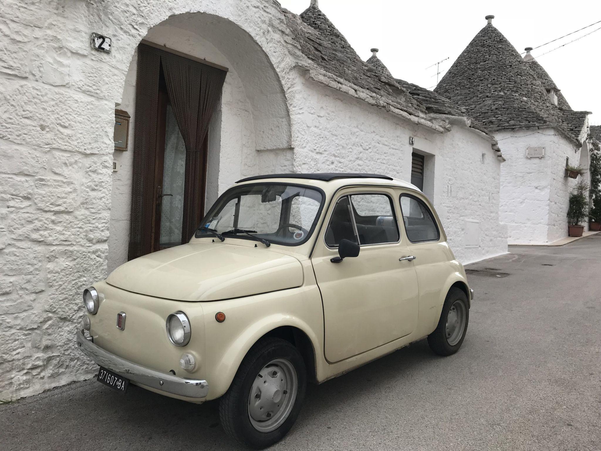mini fiat 500 in Alberobello Puglia Southern Italy