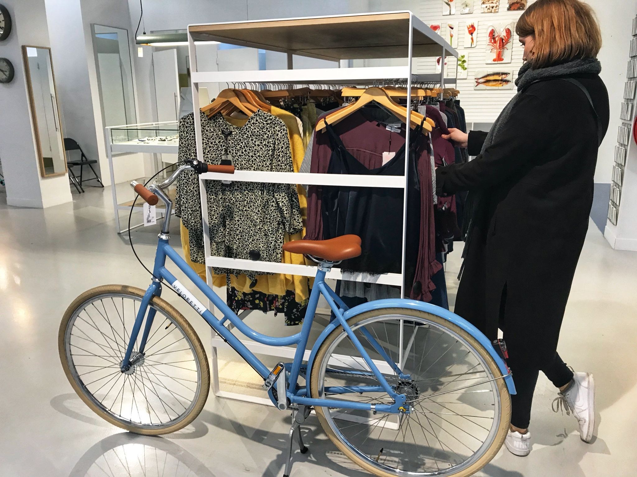 Boutique shopping with bikes at Eindhoven