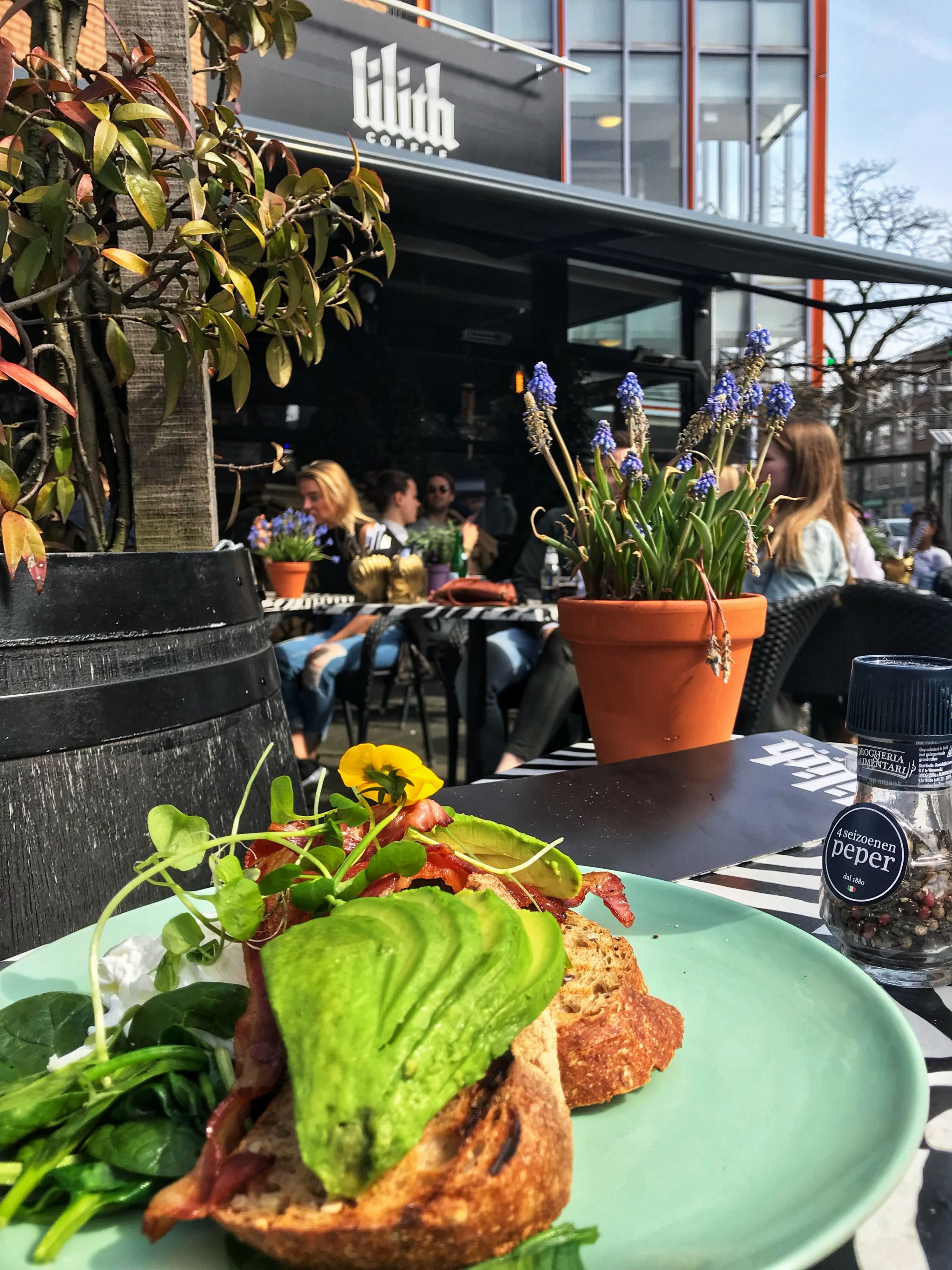 Brunch Avo on toast at Lilith Coffee Rotterdam