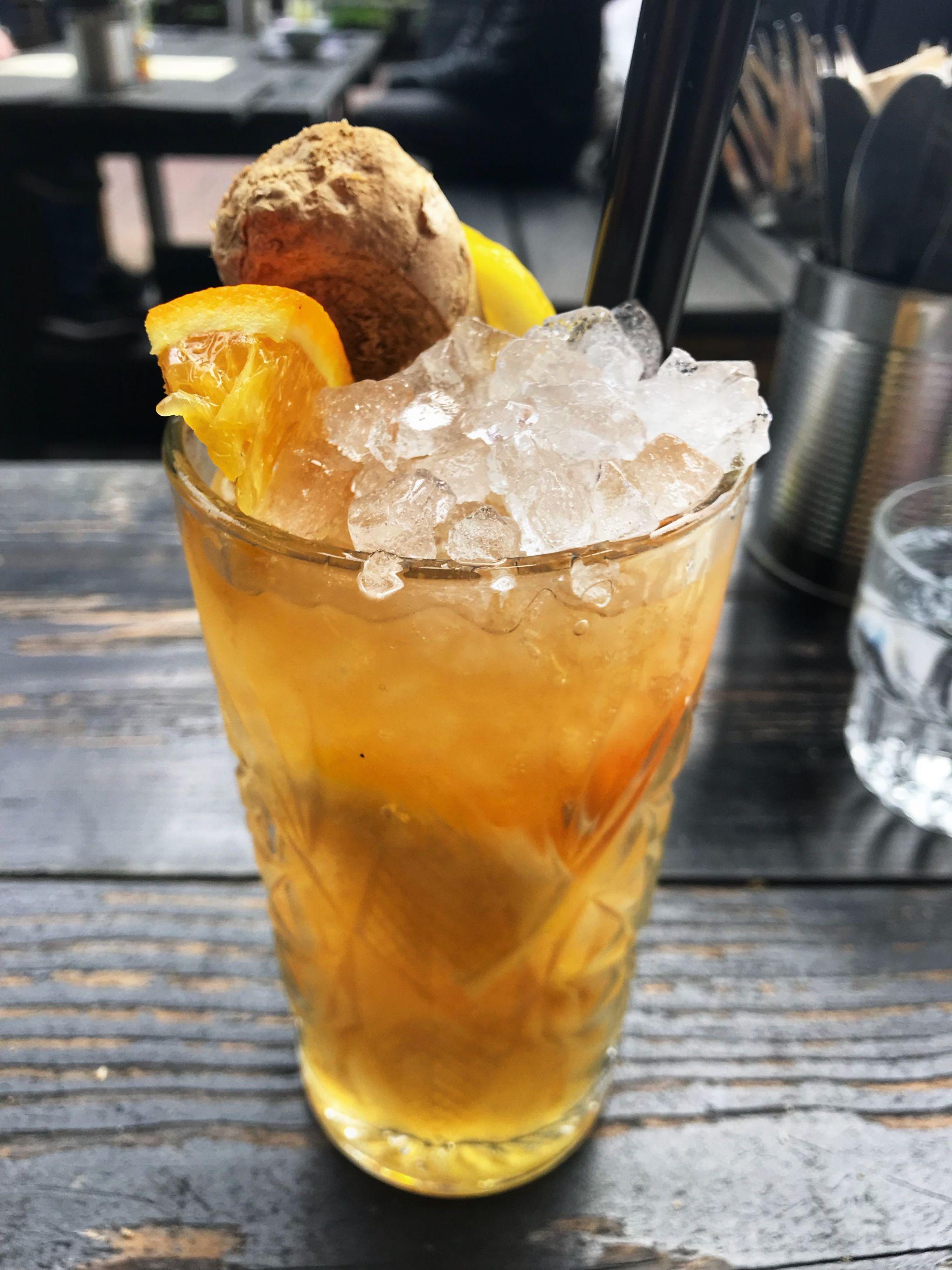Cocktail at Little V Restaurant Rotterdam Netherlands