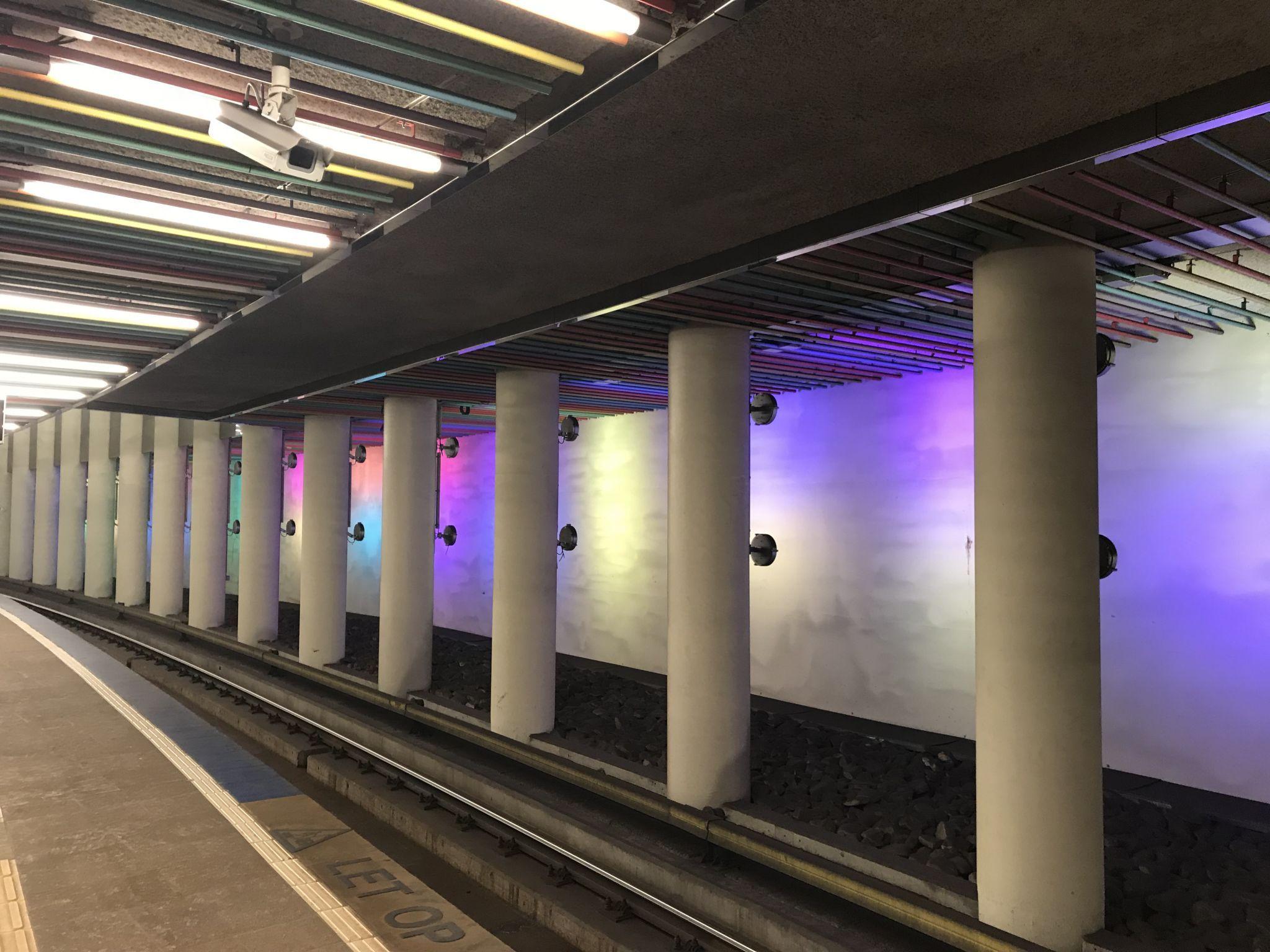 Modern Metro station Rotterdam