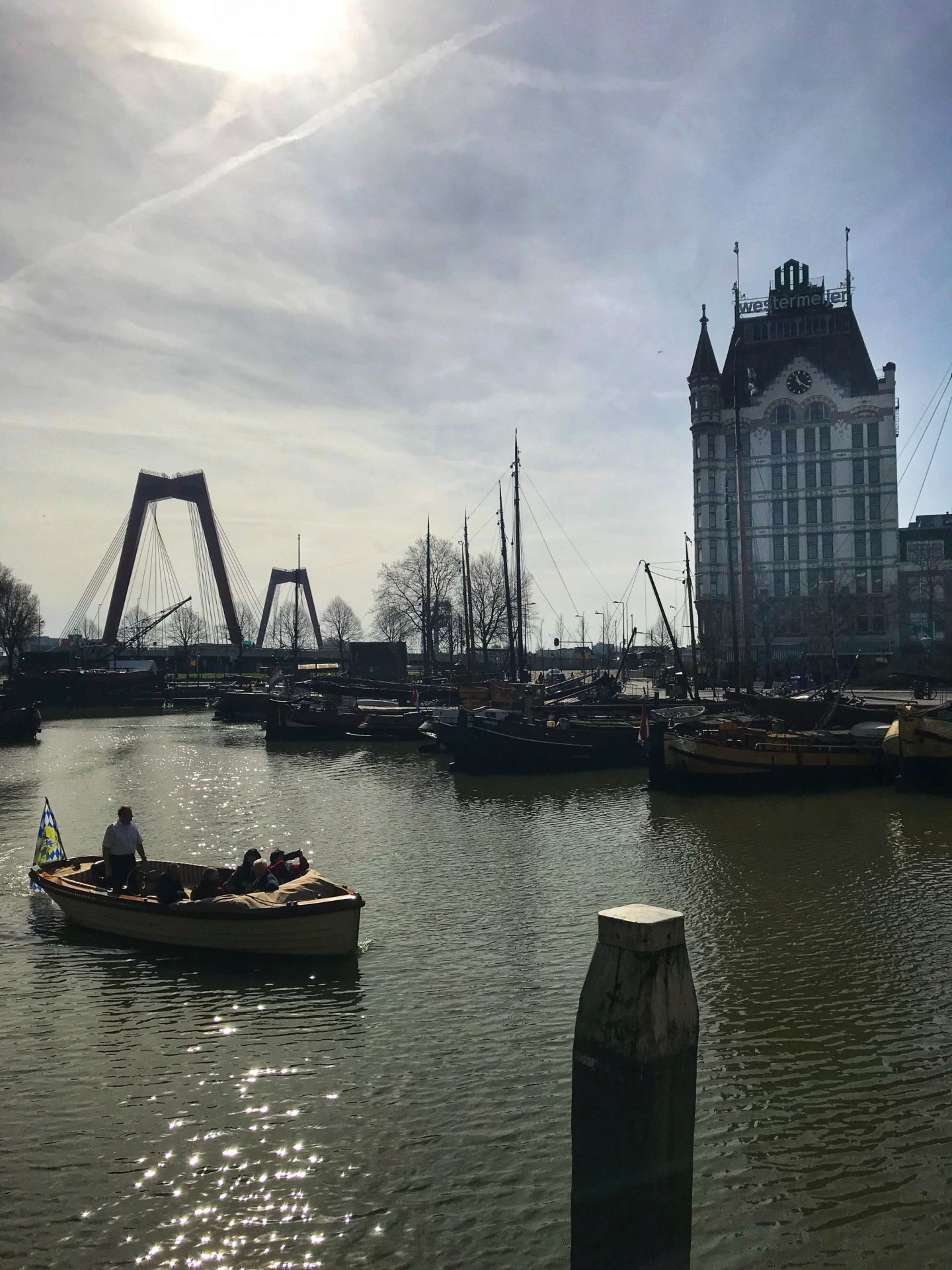 Traditional Oude Haven Oldest Harbour in Rotterdam City