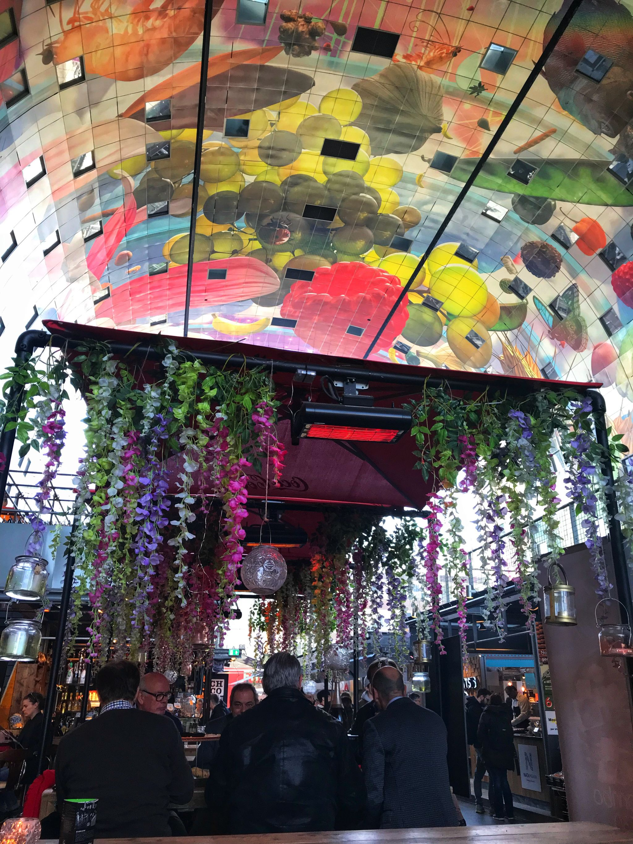 Vibrant dining at Markthal Rotterdam