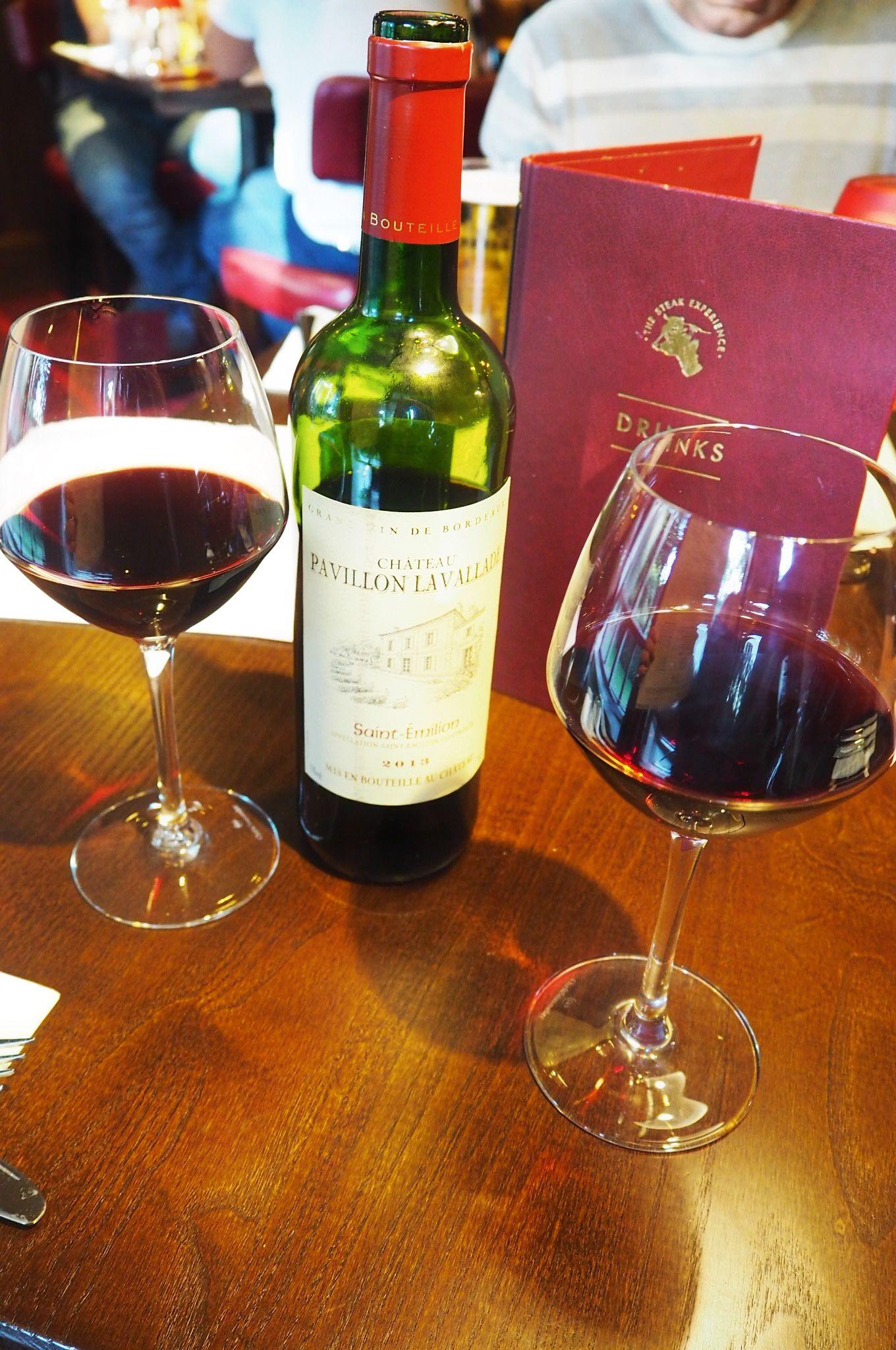 Bottle of red wine Miller and Carter steakhouse Milton Keynes
