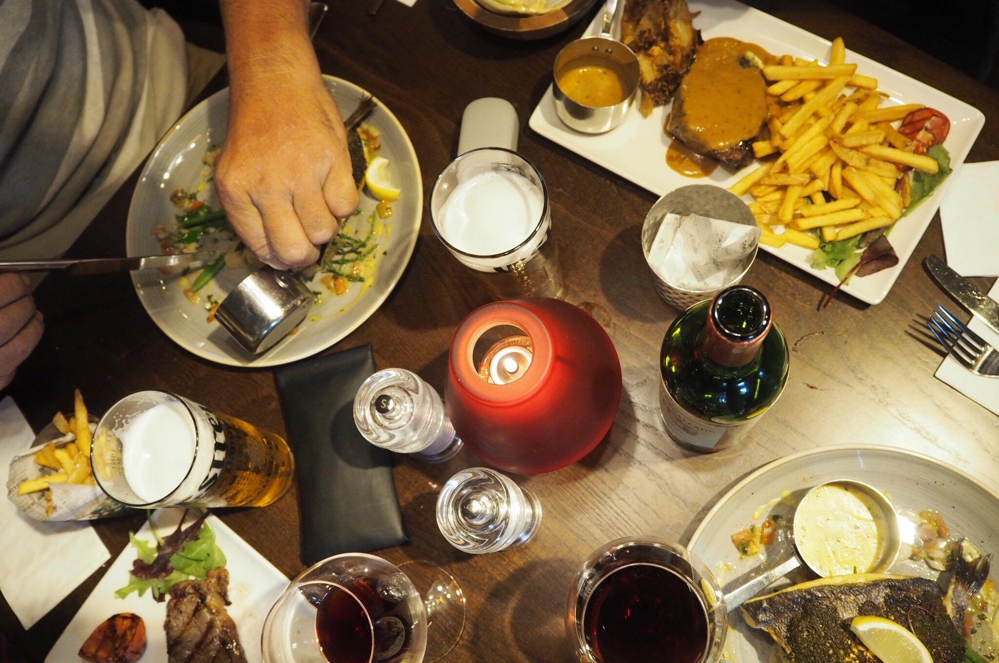Family dining at Miller and Carter steakhouse restaurant Milton Keynes