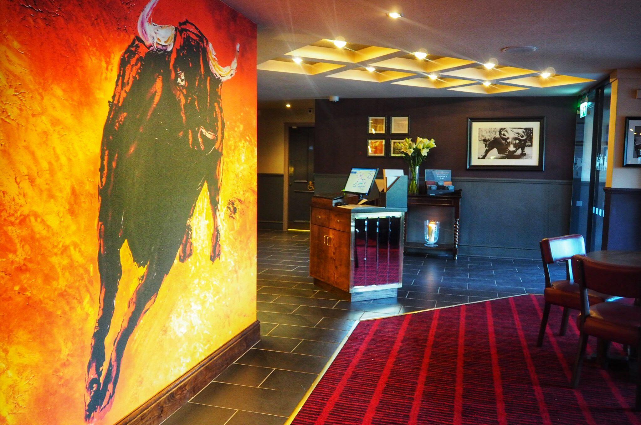 Vibrant foyer Miller and Carter Milton Keynes