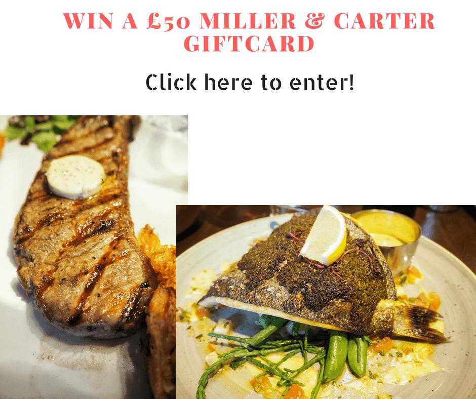 Win a £50 Miller & Carter Restaurant Voucher