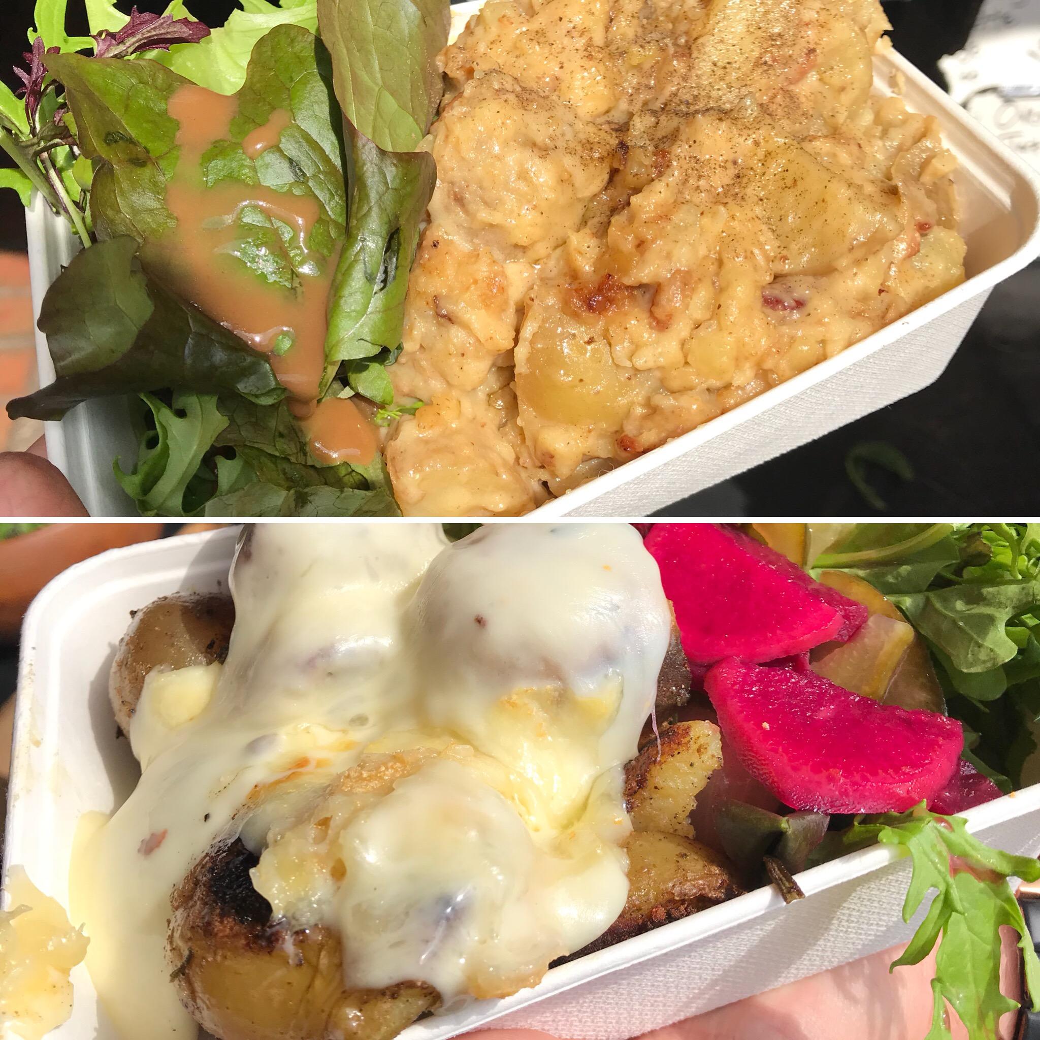 Stroud Farmers Market racelette potatoes