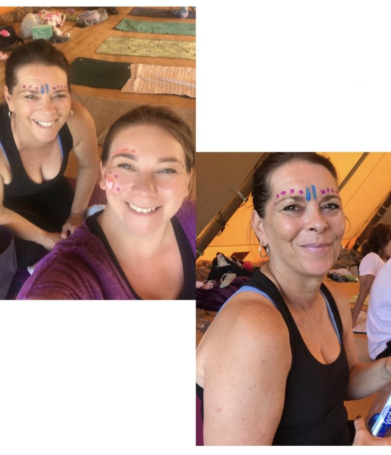 Sweat Studio Summer Yoga Festival Face painting