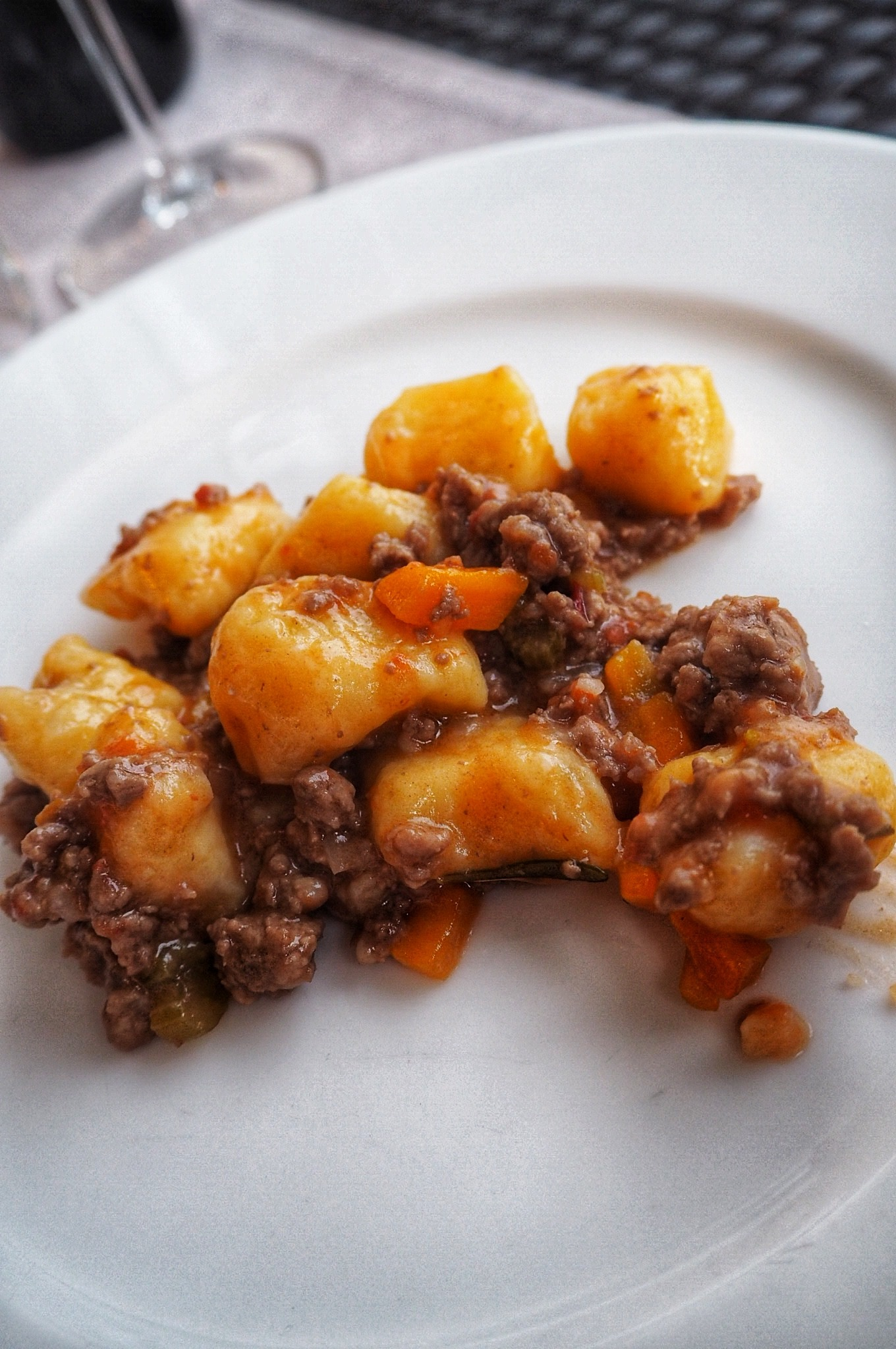 Authentic homemade gnocchi al rugu