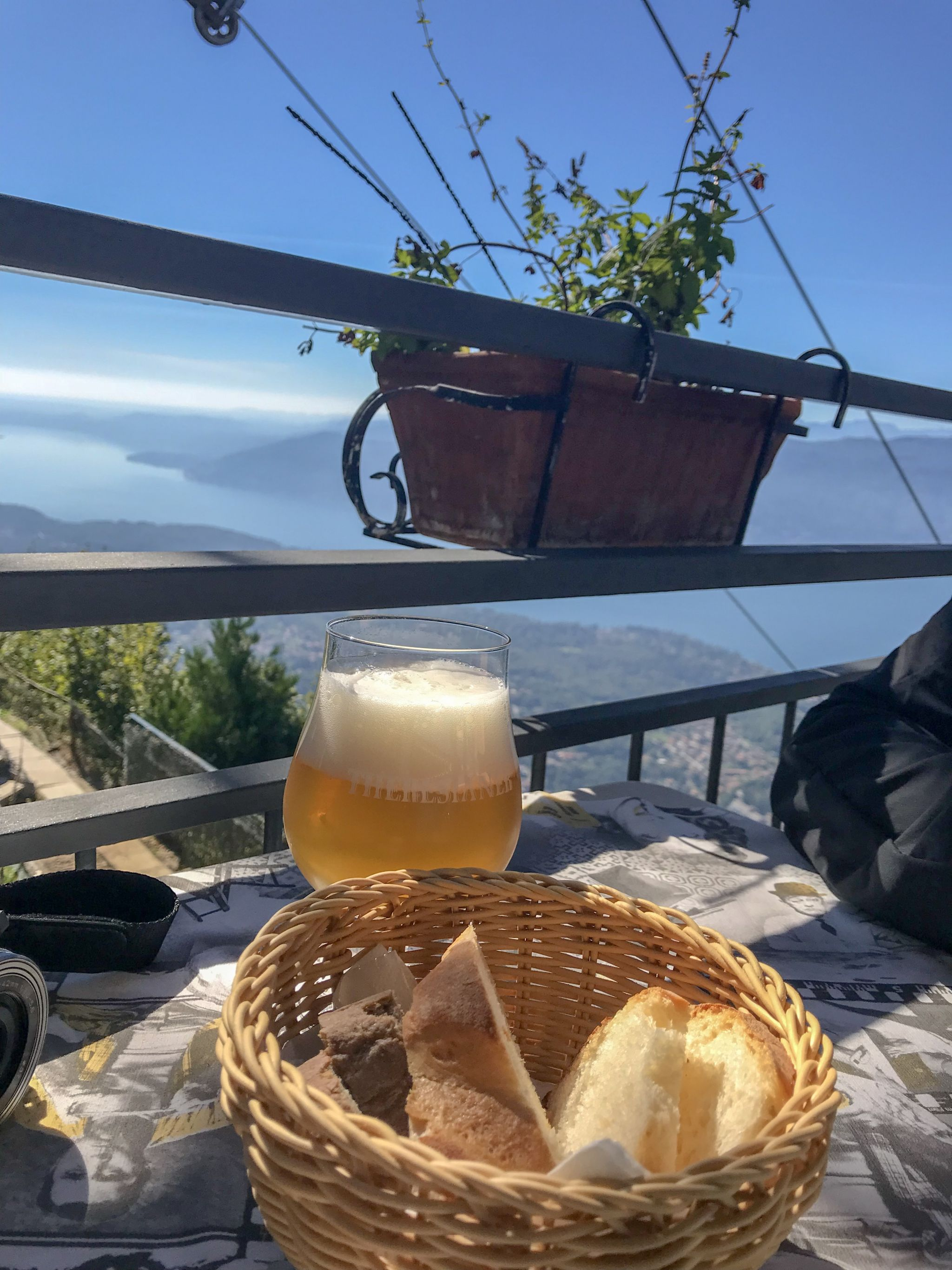 Bread and views at Panoramic Restaurant Lake Maggiore
