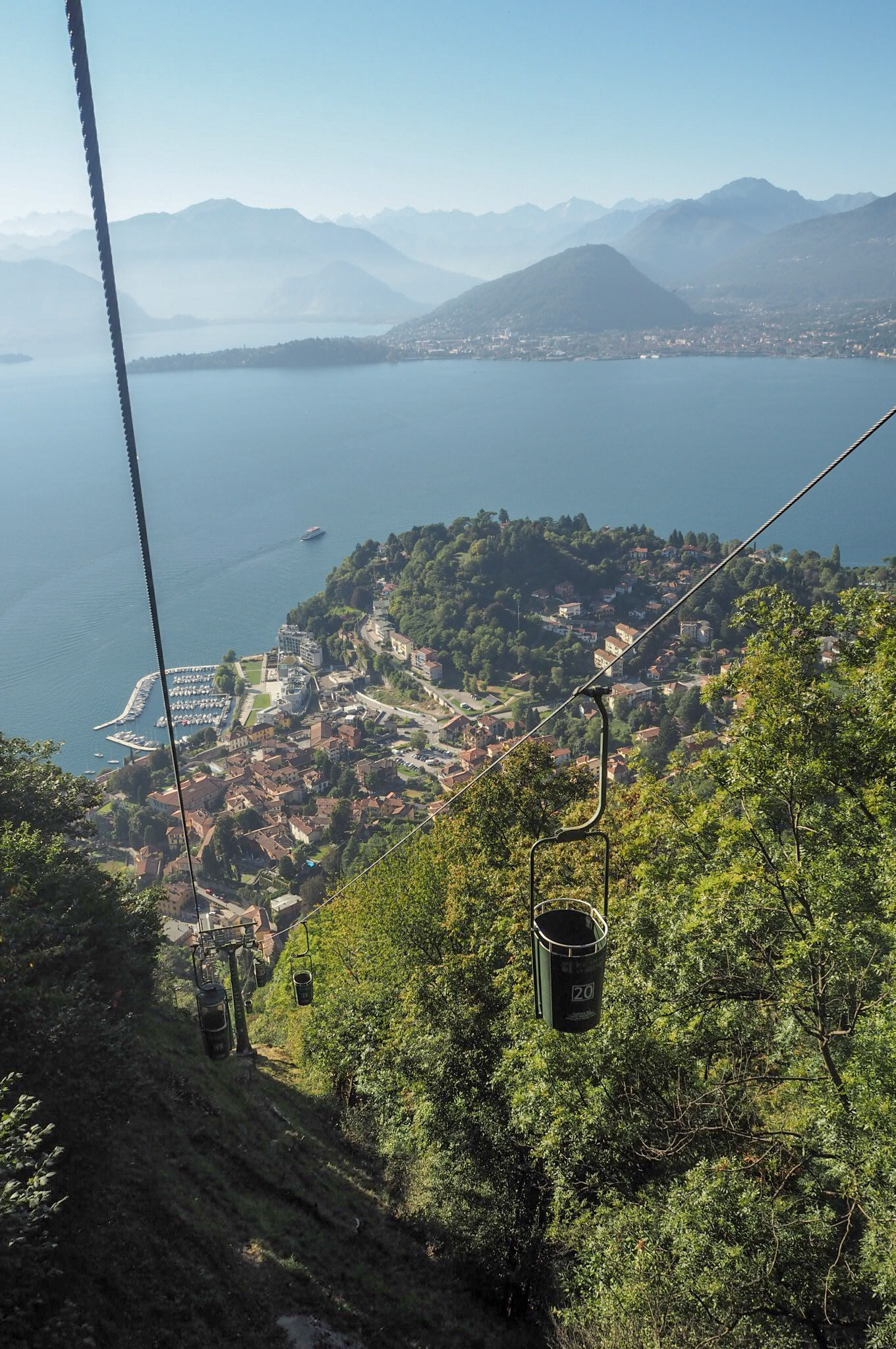 Bucket lifts views of Lake Maggiore
