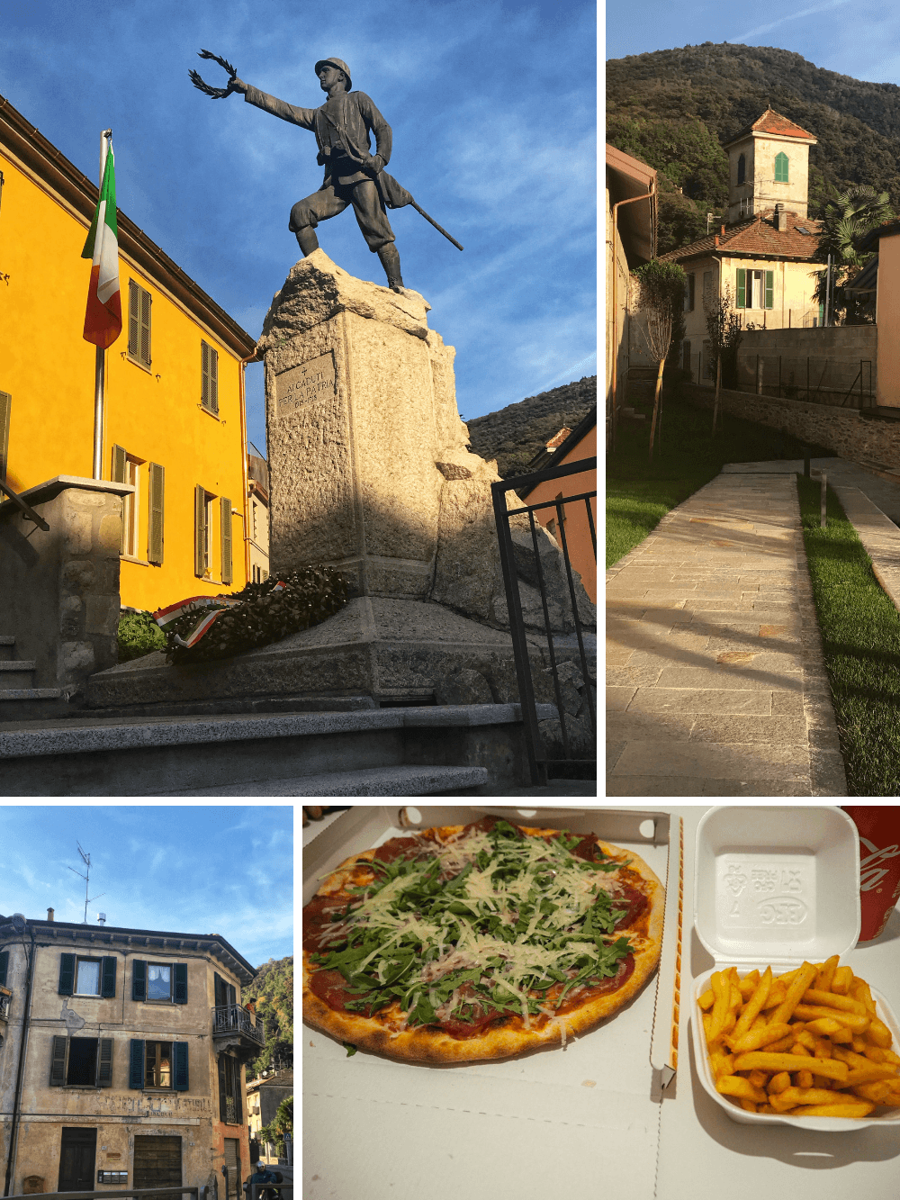 Italian Lakes exploring pretty lakeside town of Maccagno Lake Maggiore
