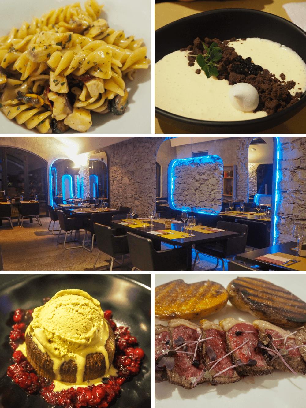 Italian food at Ottone Restaurant Golfo Gabella Lake Maggiore