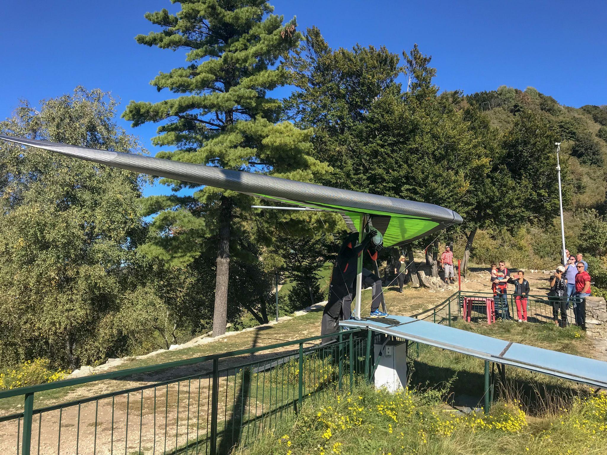 Paraglide off the top of Sasso del Ferro mountain