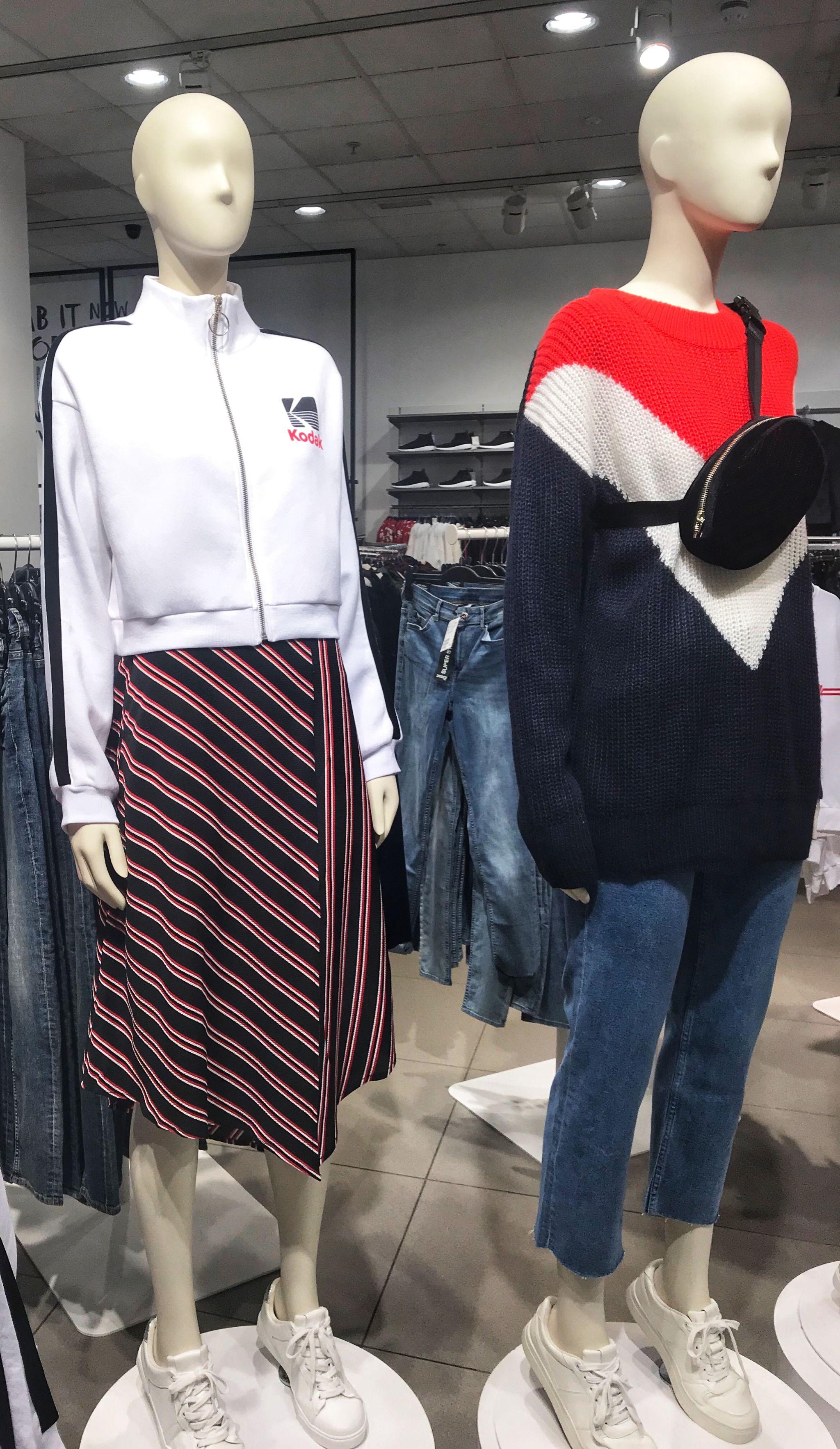 Pinstripe Skirt H&M