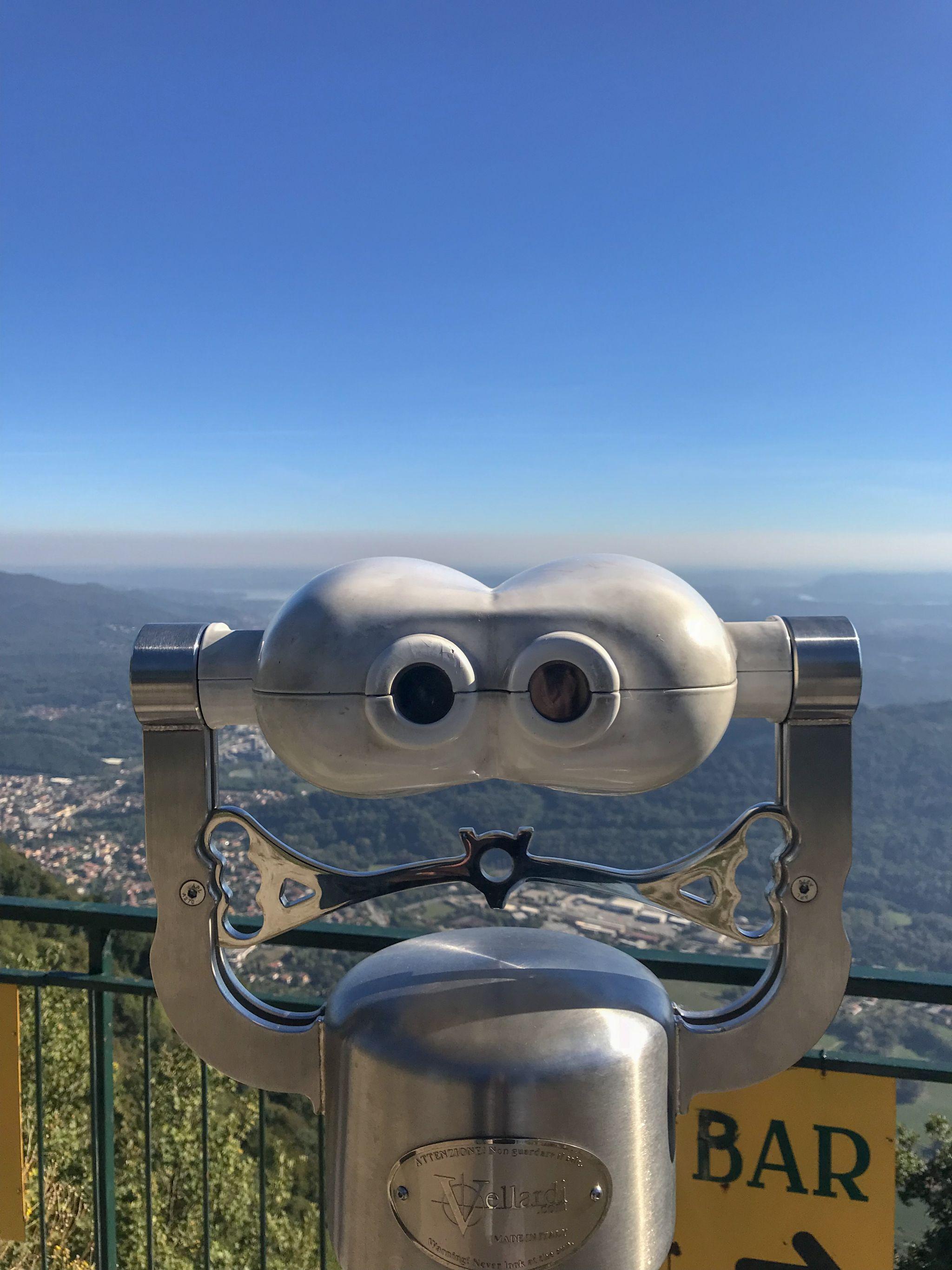 Views over Lake Maggiore atop Sasso del Ferro mountain