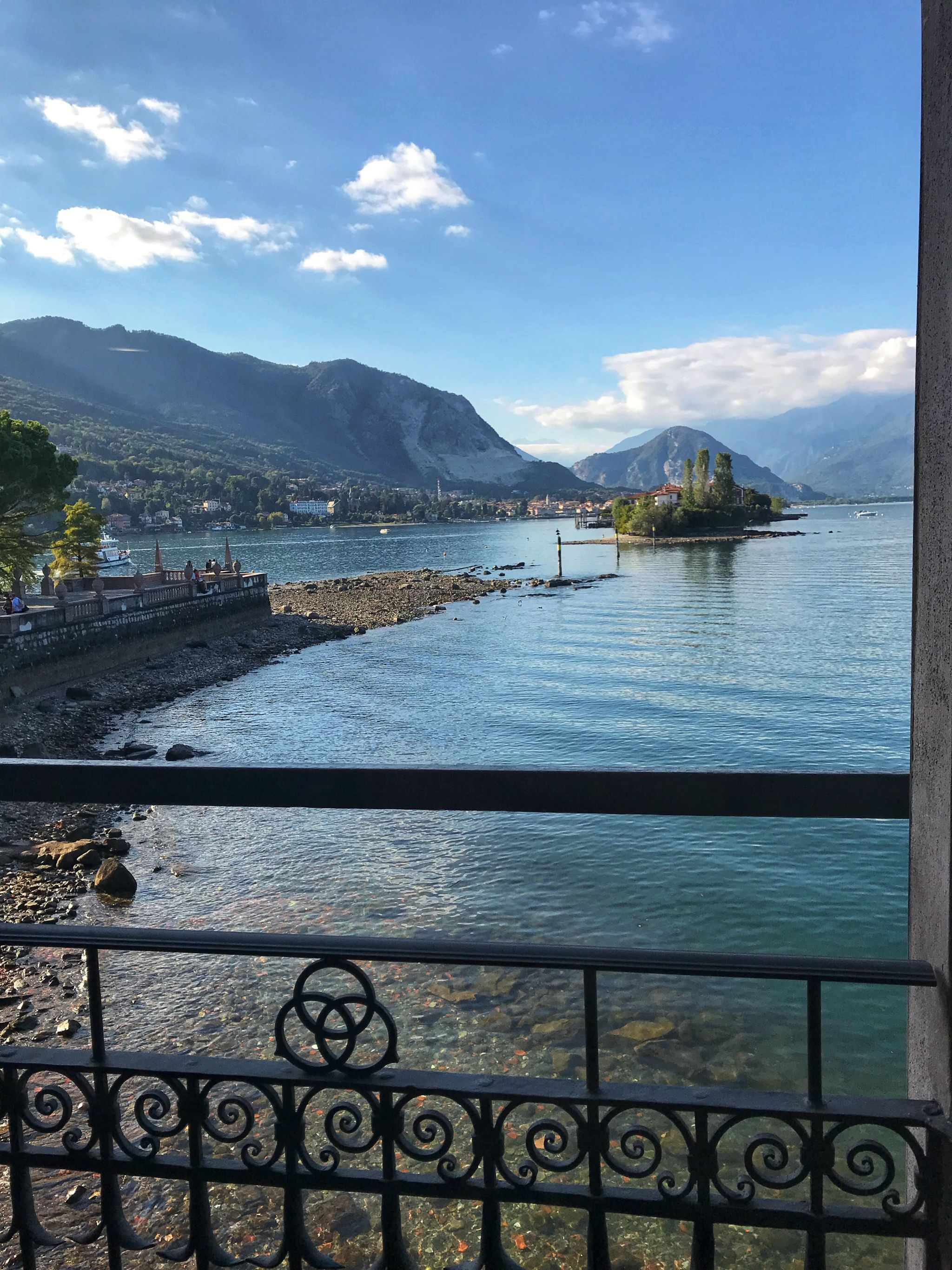 Beautiful scenic Lake Maggiore views from Palazzo Borromee