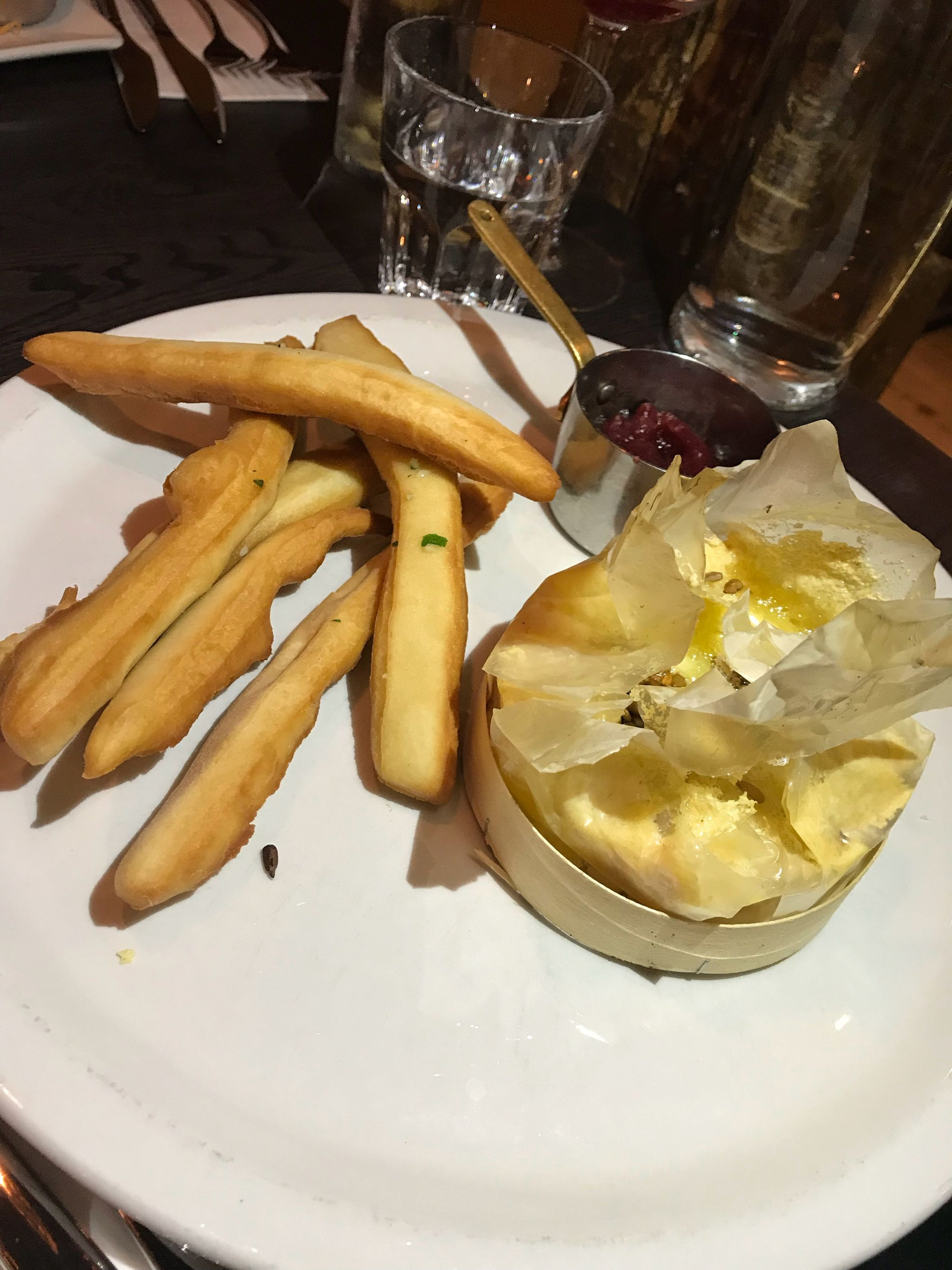Camembert with warm dough sticks starter Black Horse Great Linford Milton Keynes