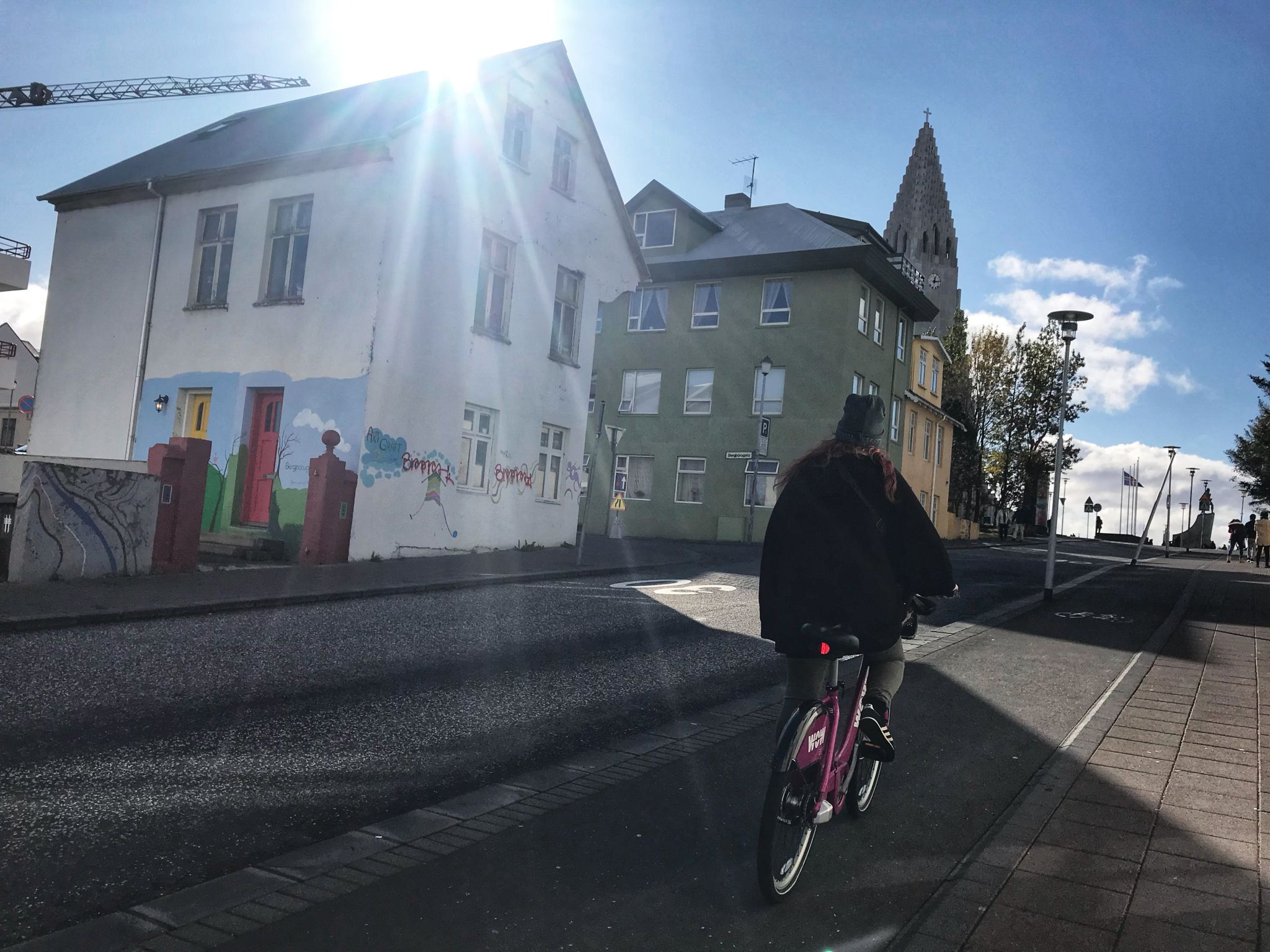 Exploring and sightseeing in Reykjavik Iceland