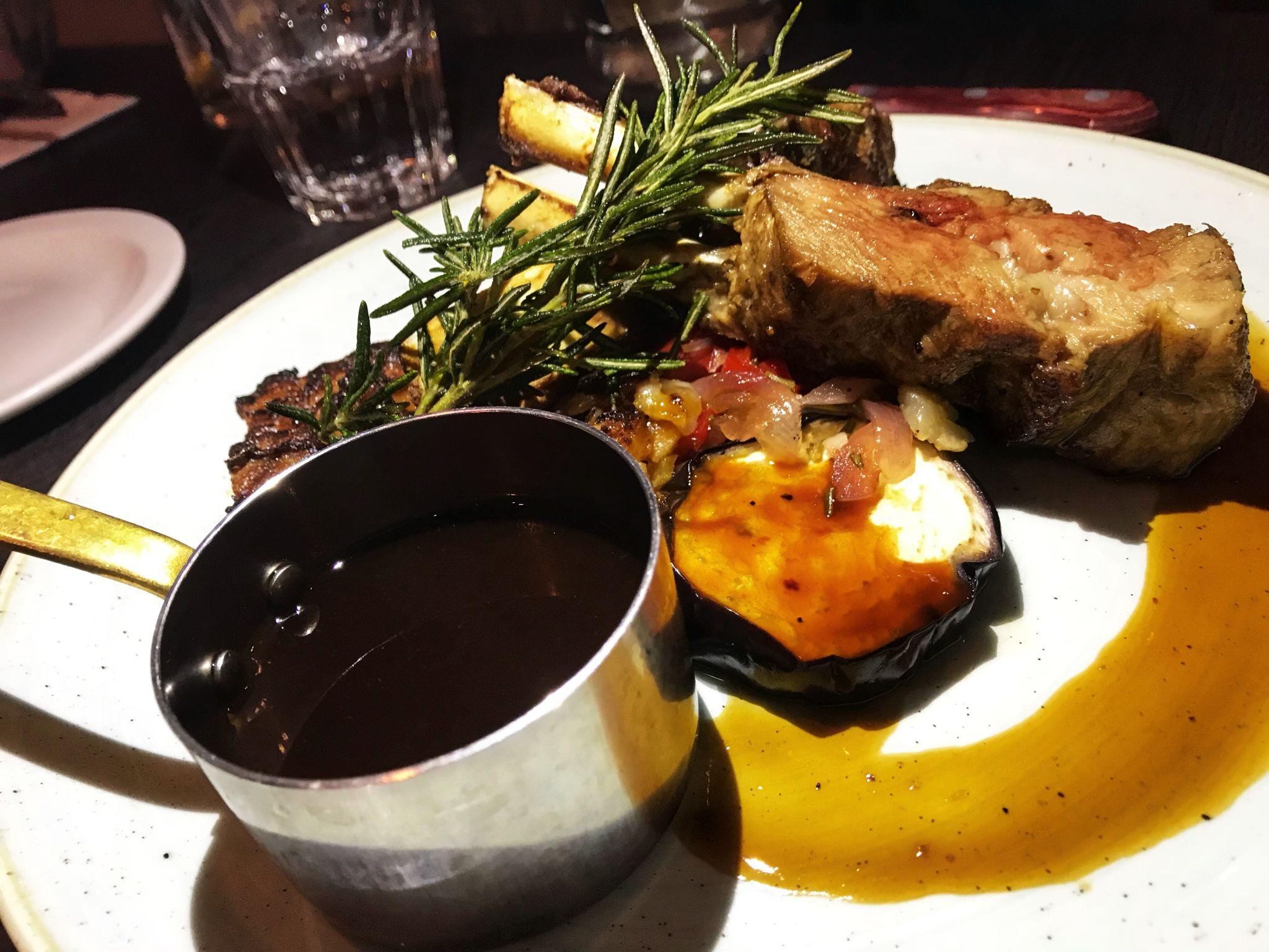 Lamb main dish Black Horse Pub Great Linford Milton Keynes