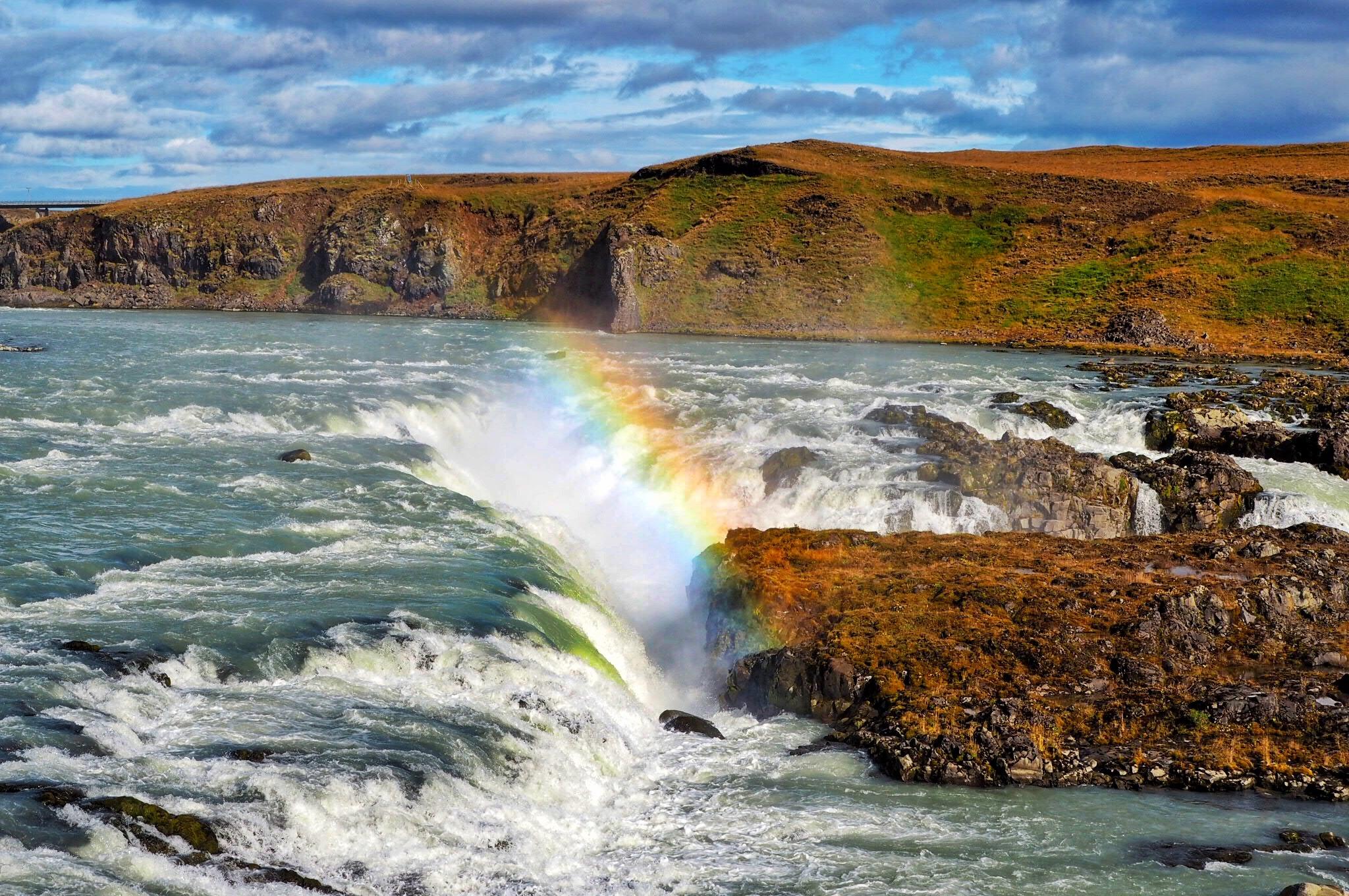 Rainbow-over-Urridafoss-Waterfall-Iceland