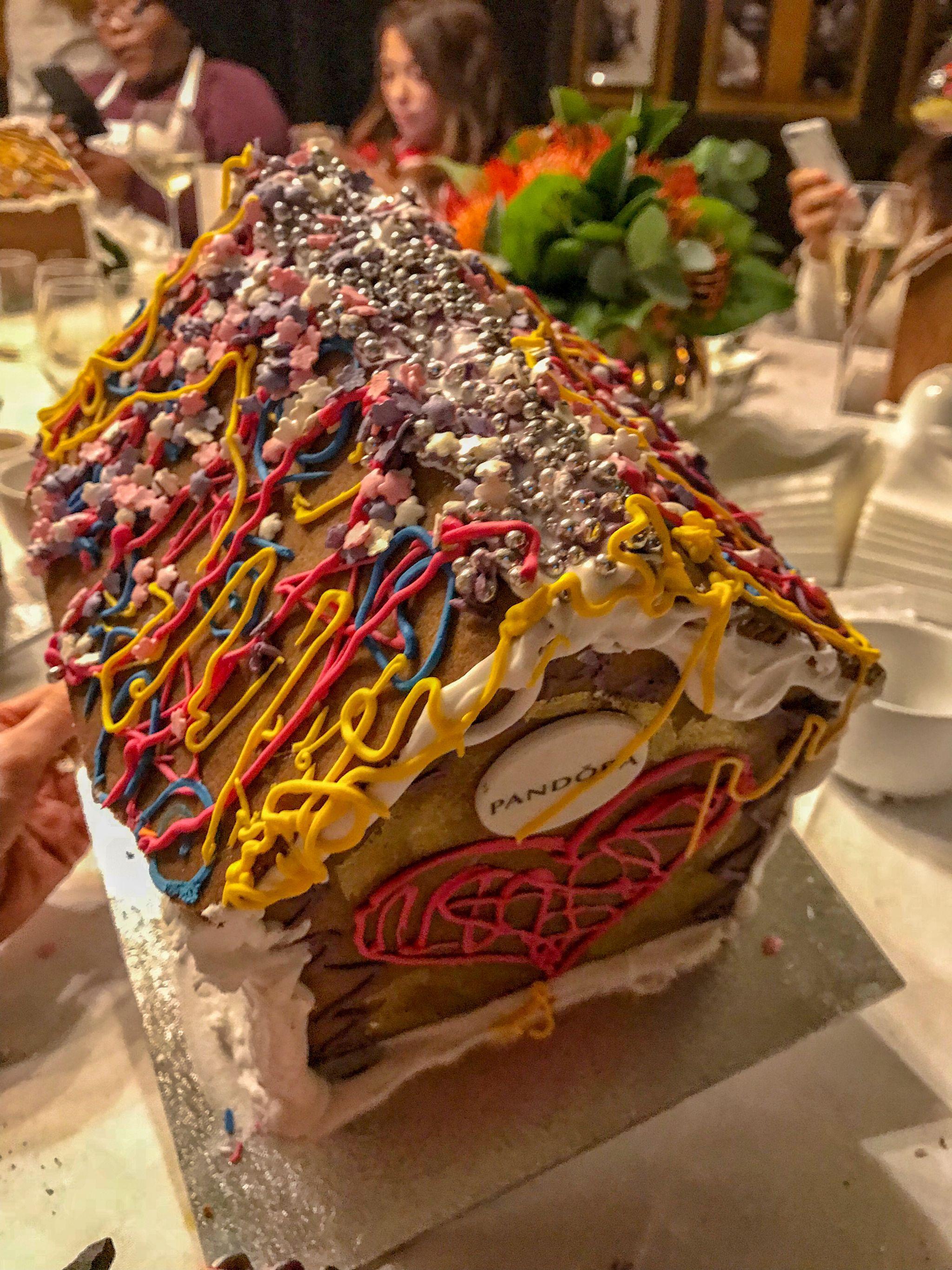 Laura Blair's colourful gingerbread house