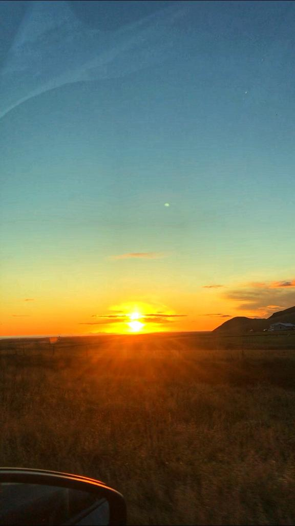 A Sunset road-trip in Southern Iceland