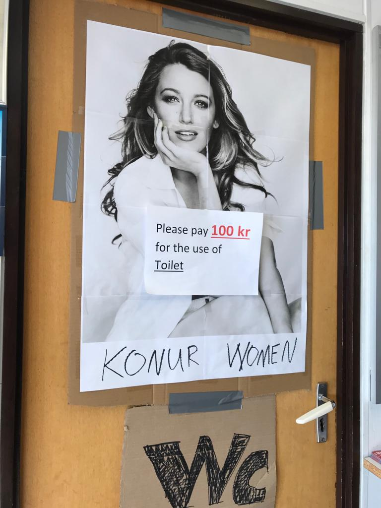 Blake Lively ladies toilet in Iceland