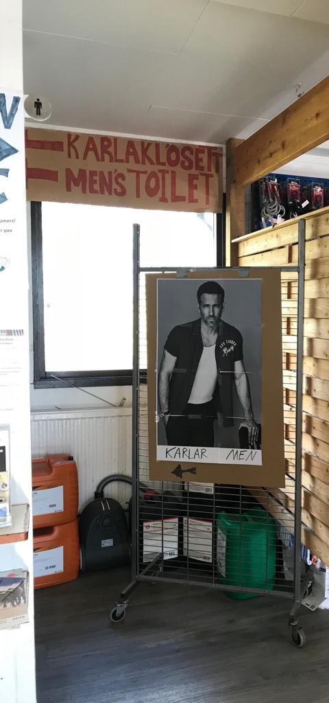 Ryan Reynolds Male Toilet in Iceland