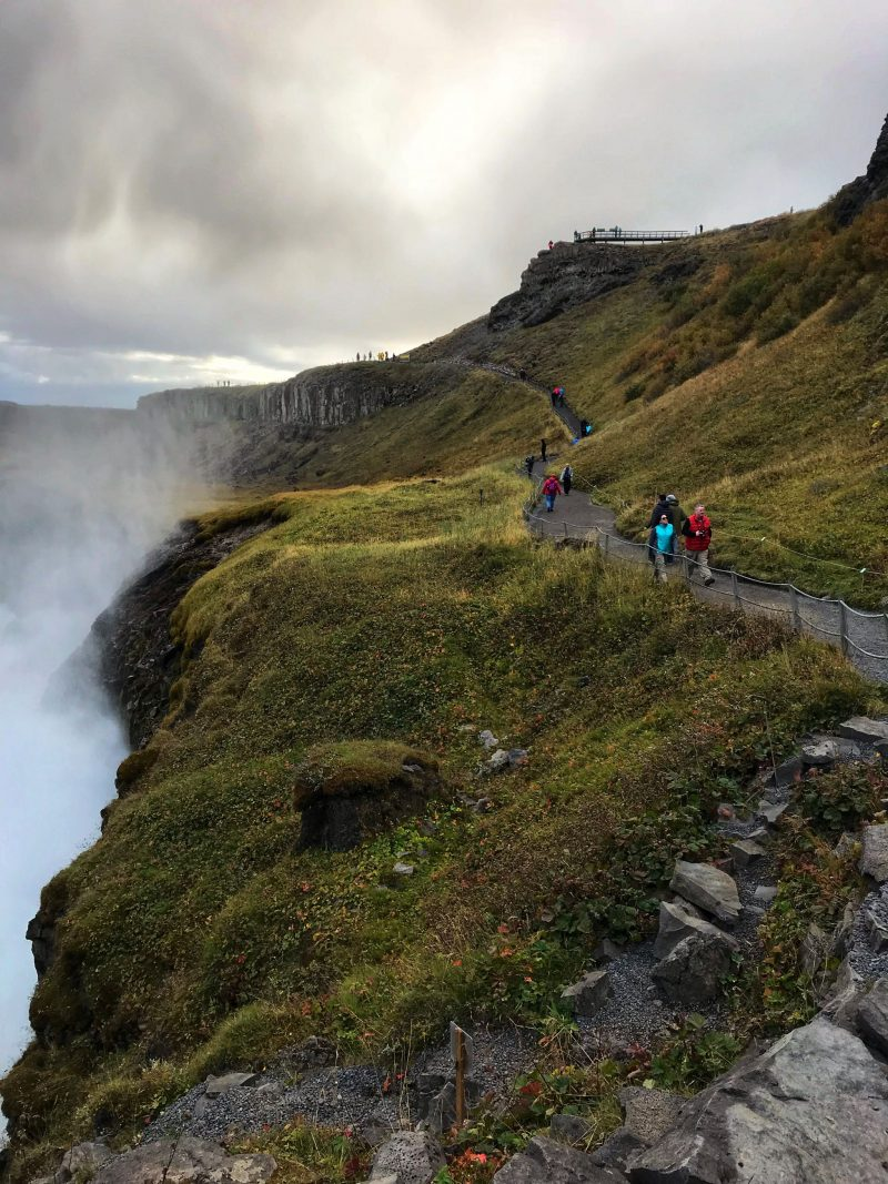 Trail to Gullfoss Falls