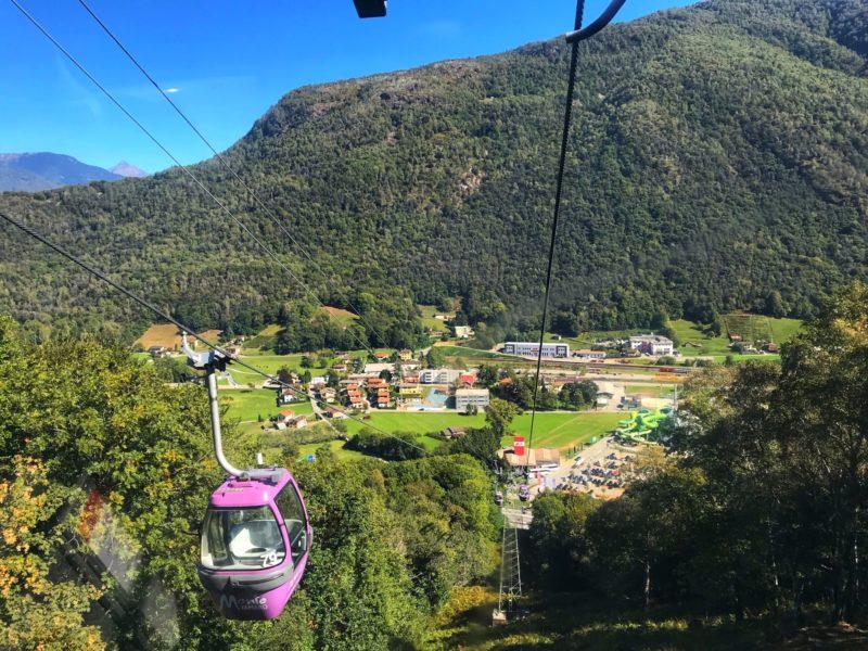 Cable Car views from monte tamaro Lugano Switzerland