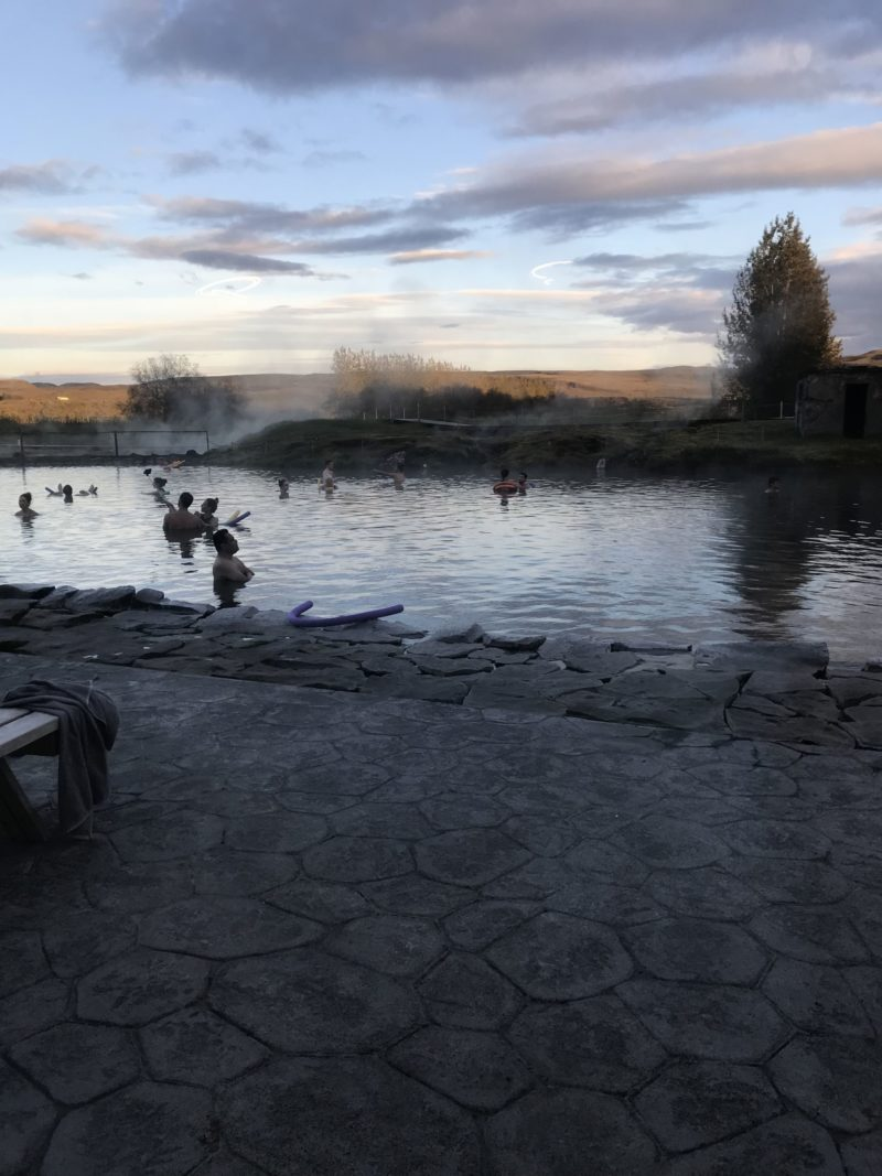 Iceland's natural hot spring Secret Lagoon