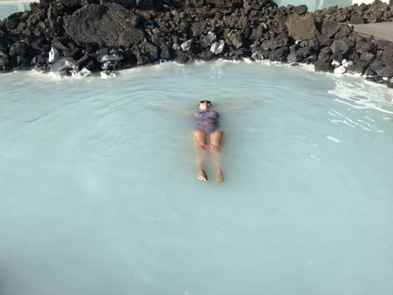 Laying back enjoying The Blue Lagoon Iceland