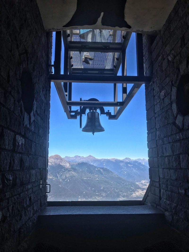 Swiss mountain view monte tamaro lugano