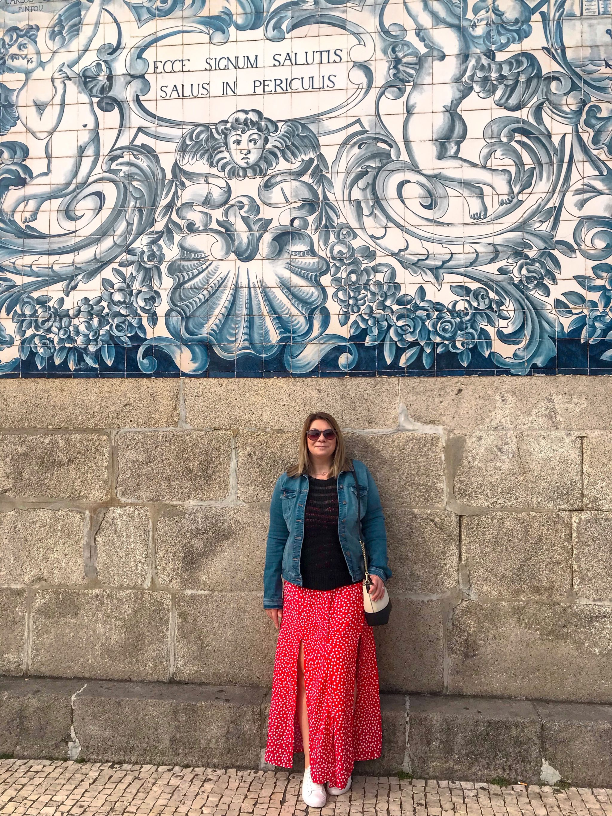 Porto Packing Guide Miss Selfridge Polka dot maxi dress