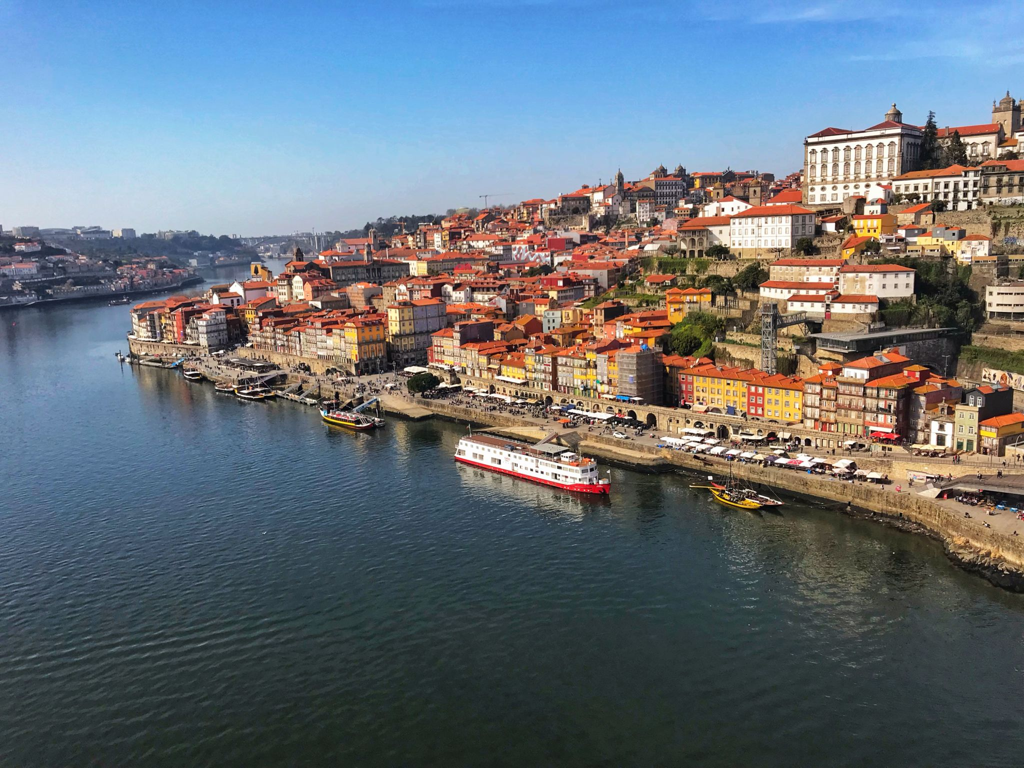 Views over Ribeiro District Porto Portugal