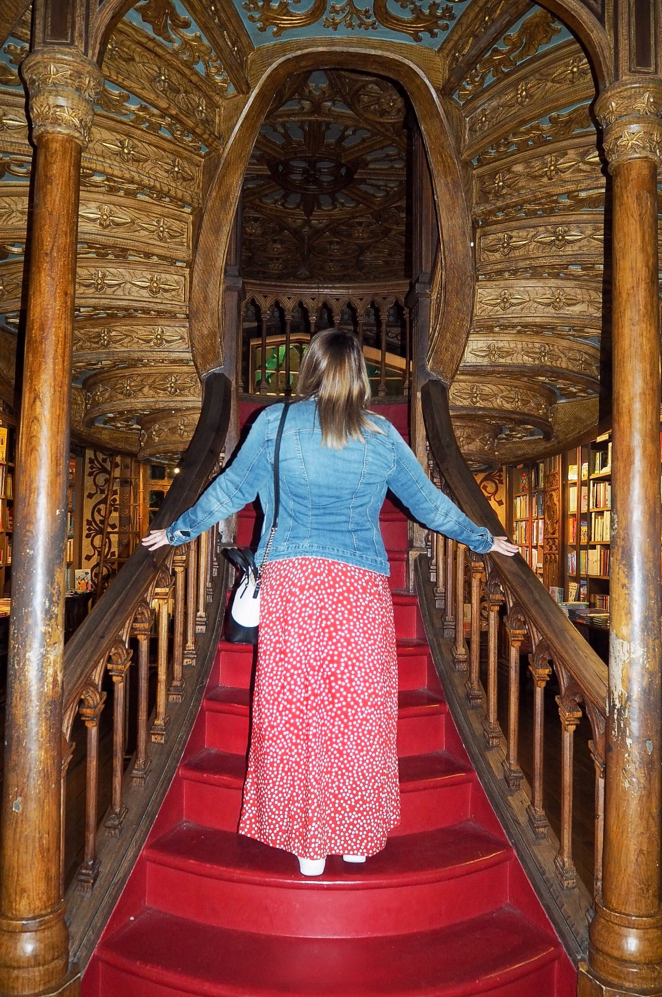 Looking for Harry Potter at Livraria Lello Library Porto