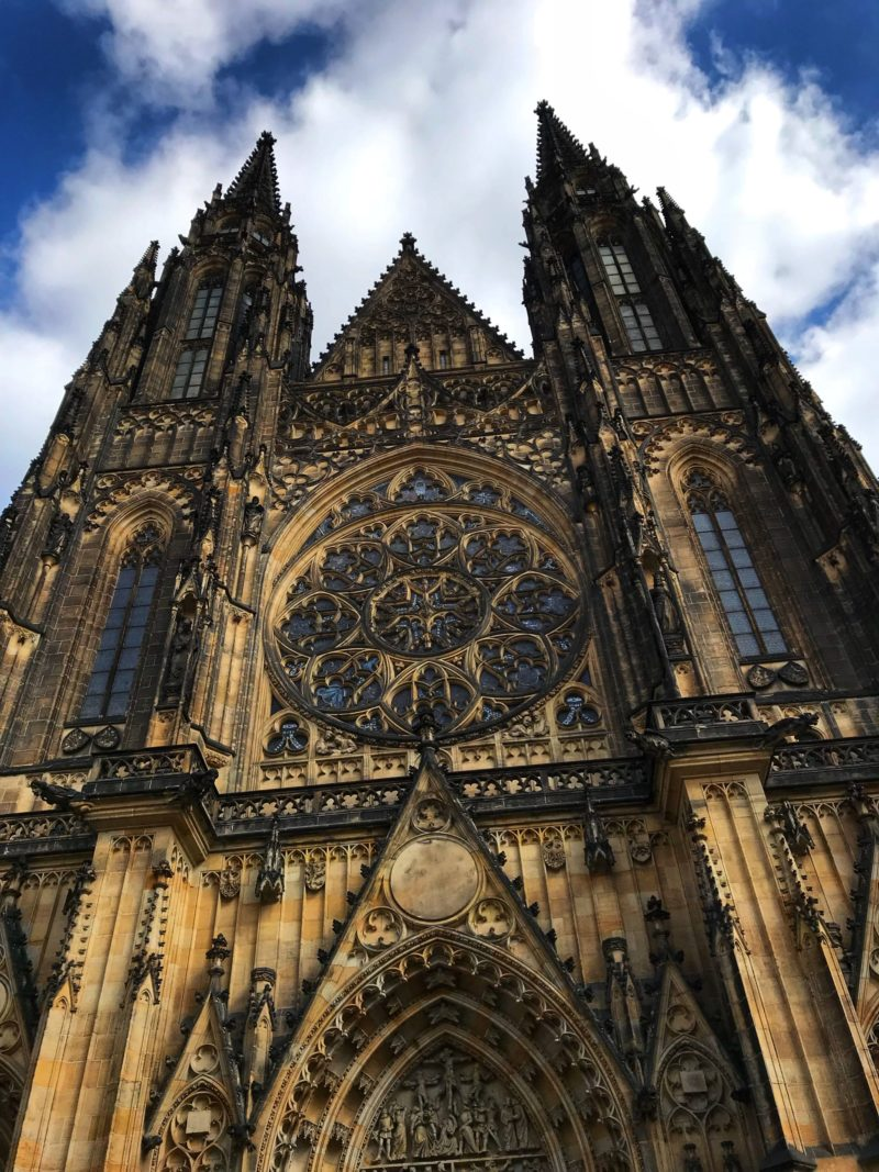 Incredible architecture of St. Vitus Cathedral Prague