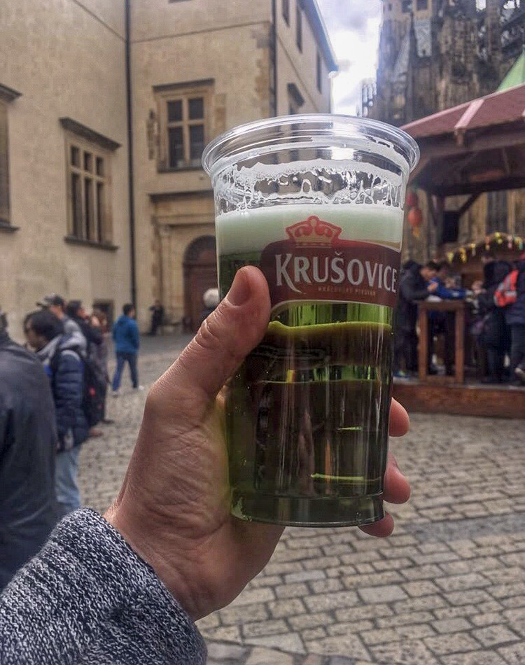 green beer in Prague